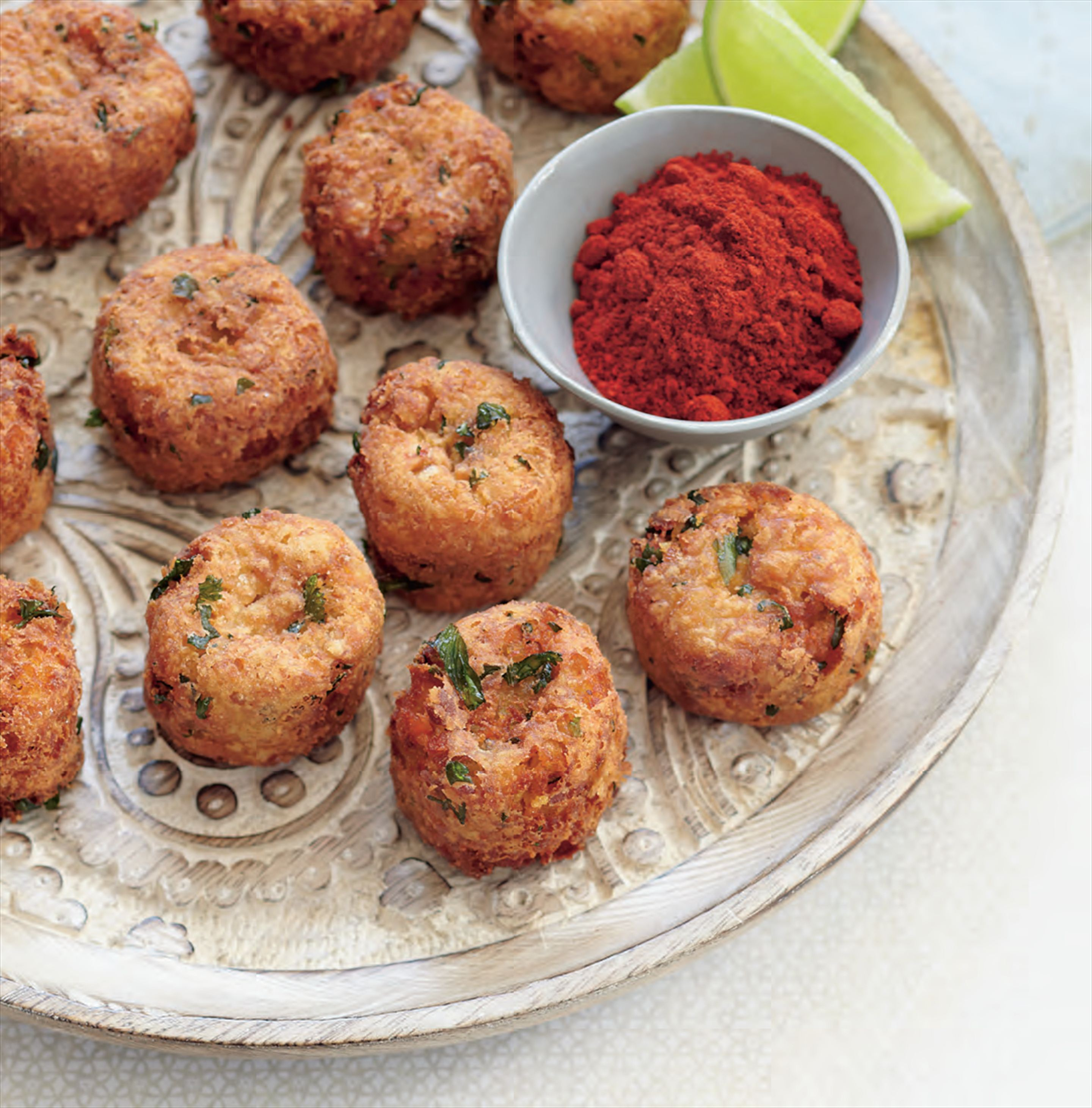 Lentil balls with lime and smoked paprika
