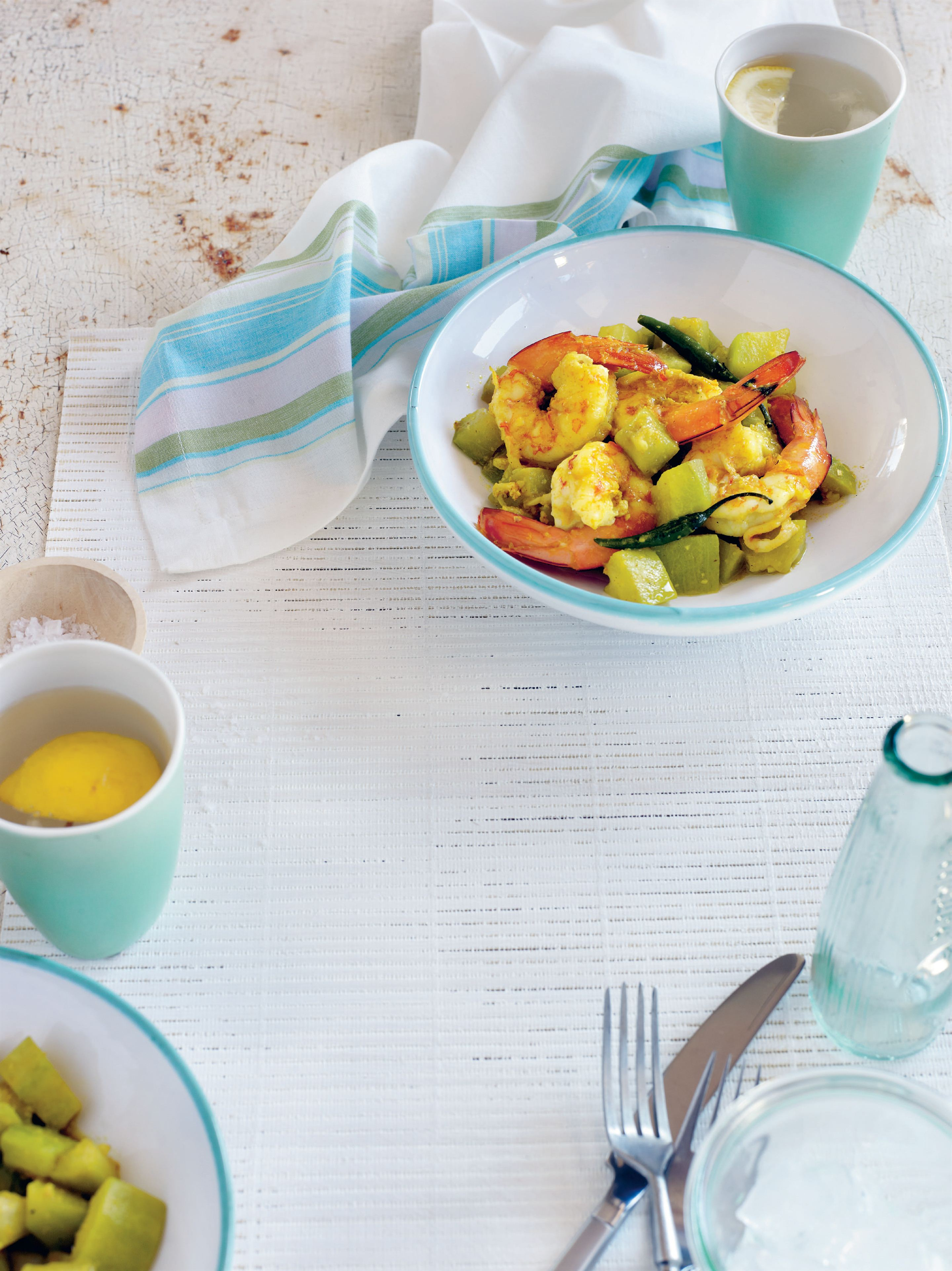 Prawns with zucchini