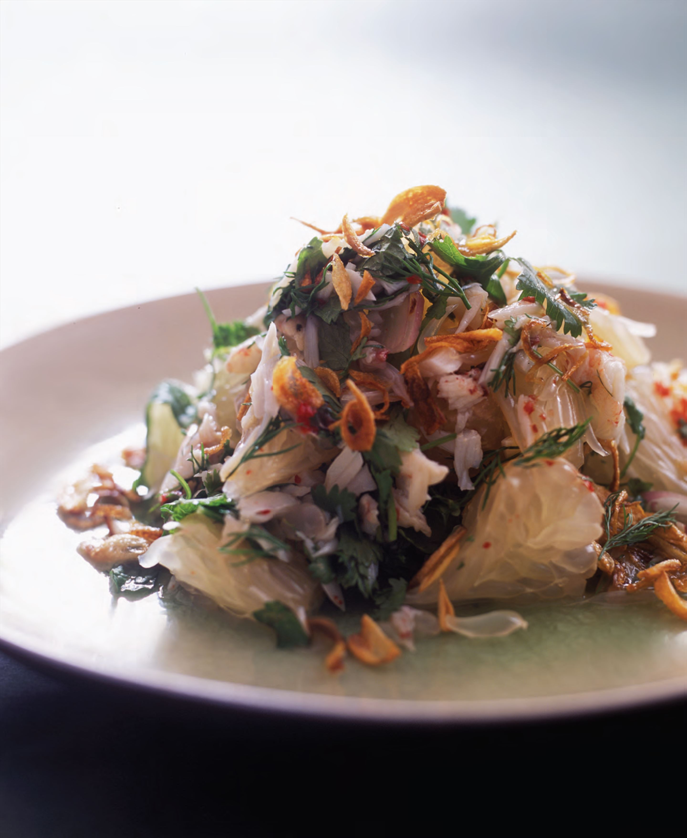 Crab and pomelo salad