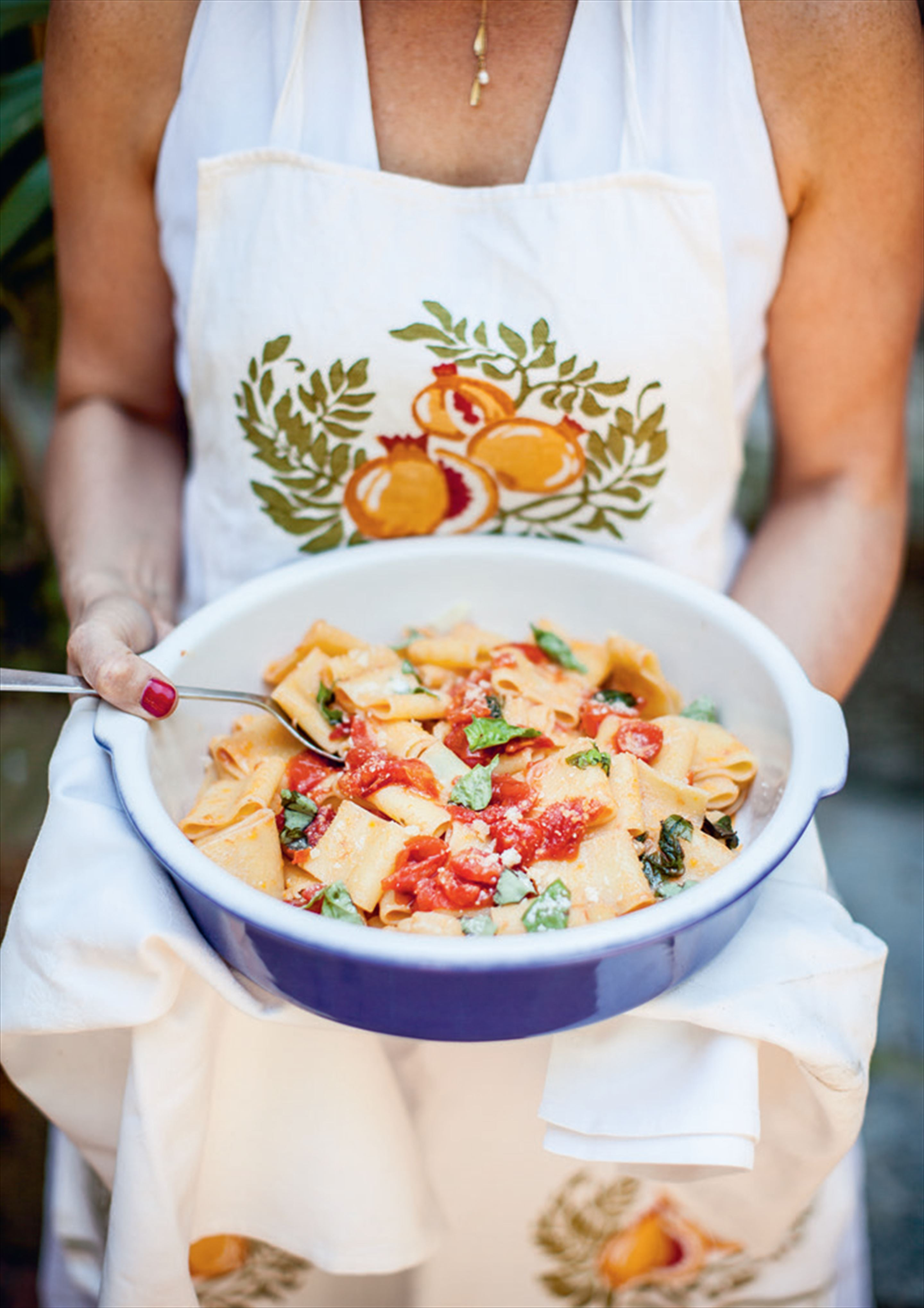 Summer tomato sauce with paccheri