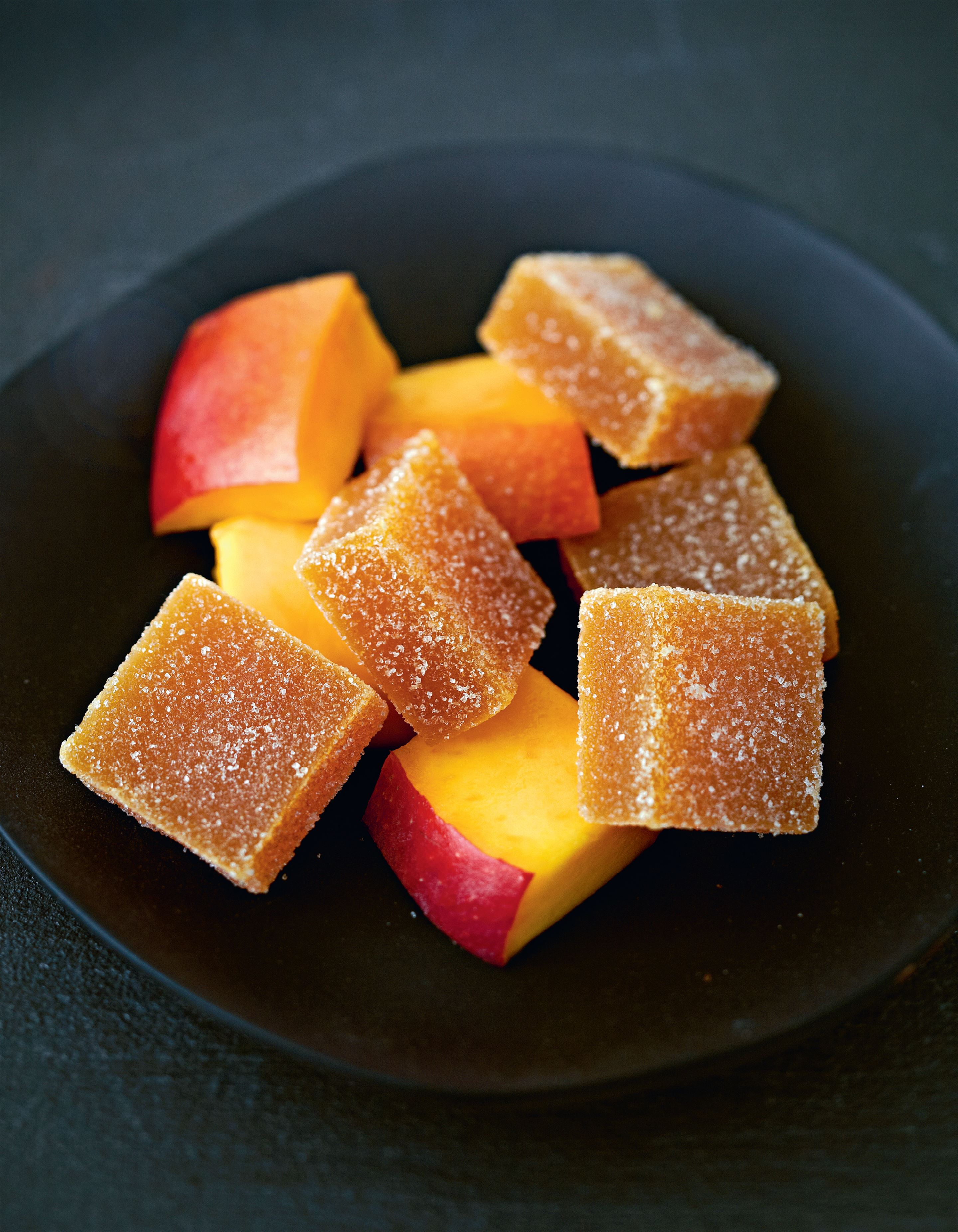 Exotic pâte de fruits - mango and passionfruit