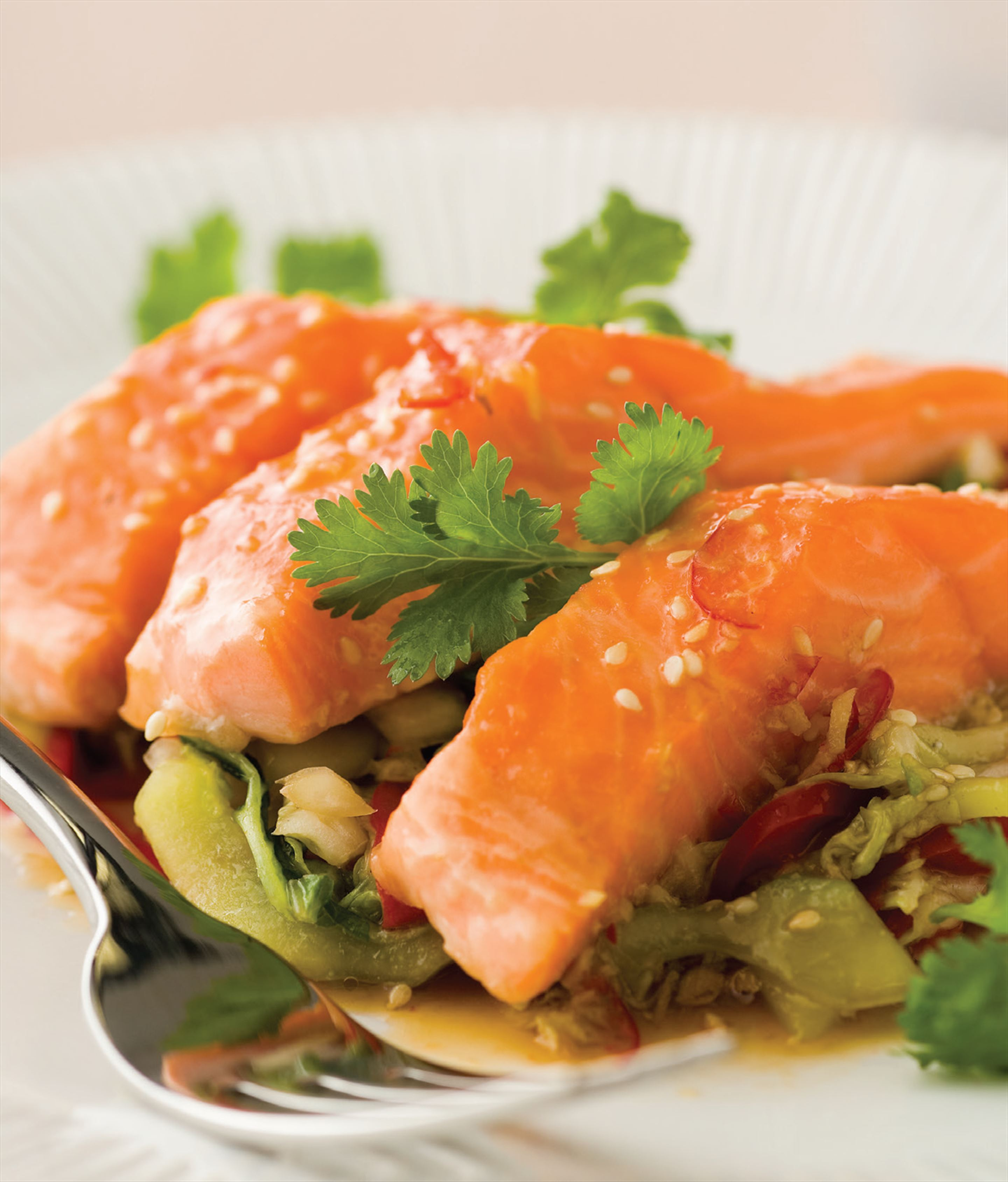 Asian salad with ocean trout