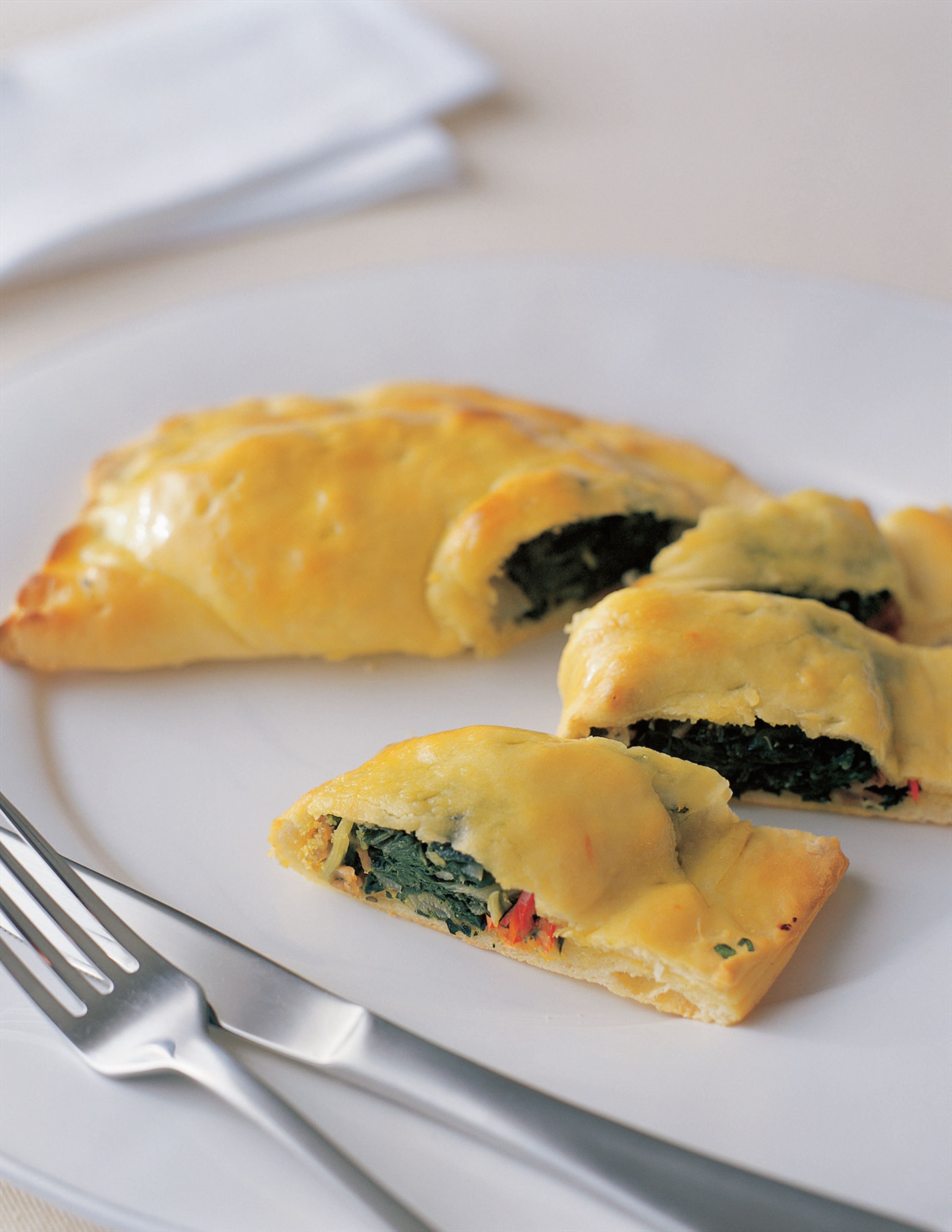 Calzone with silverbeet