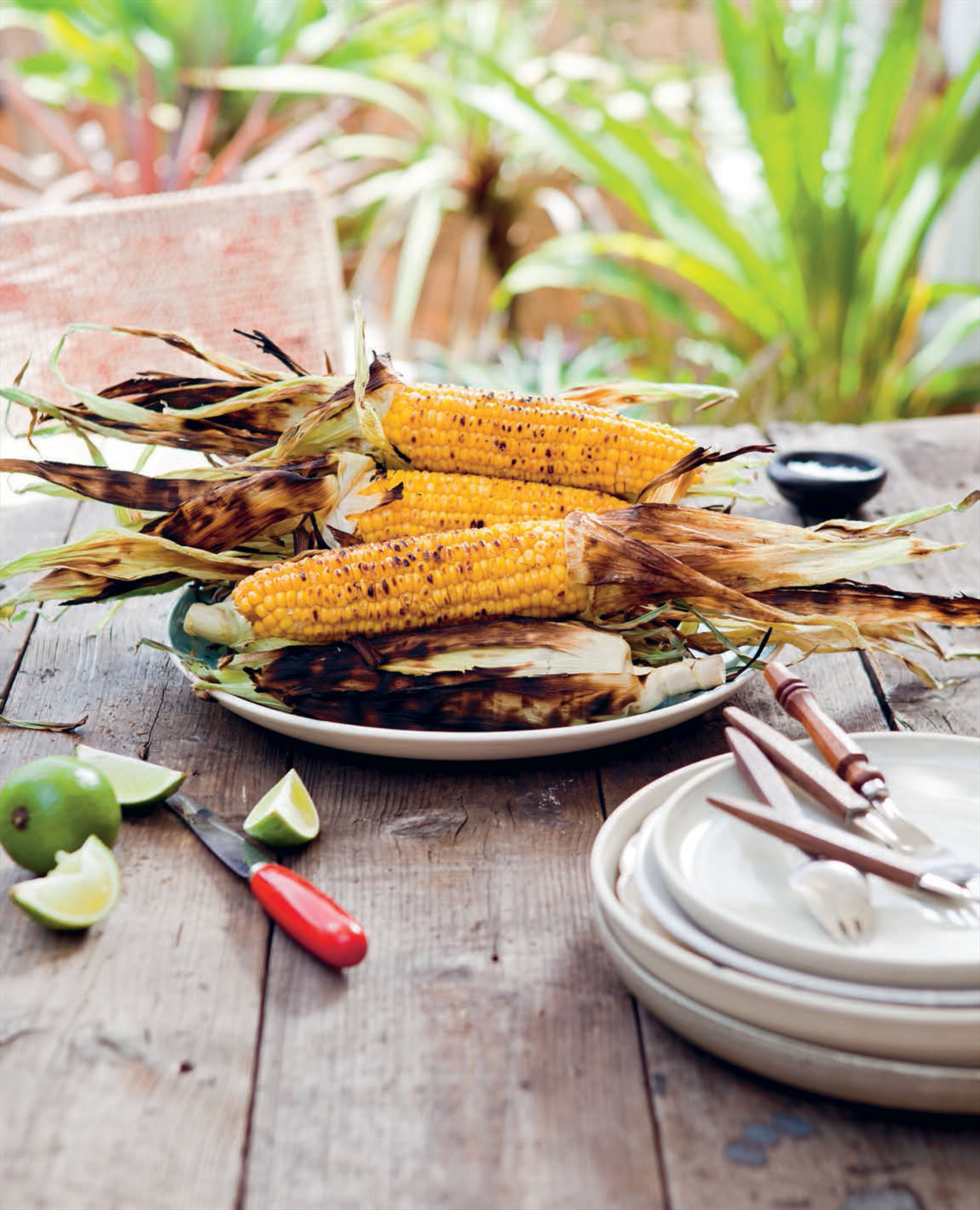 Grilled corn three ways
