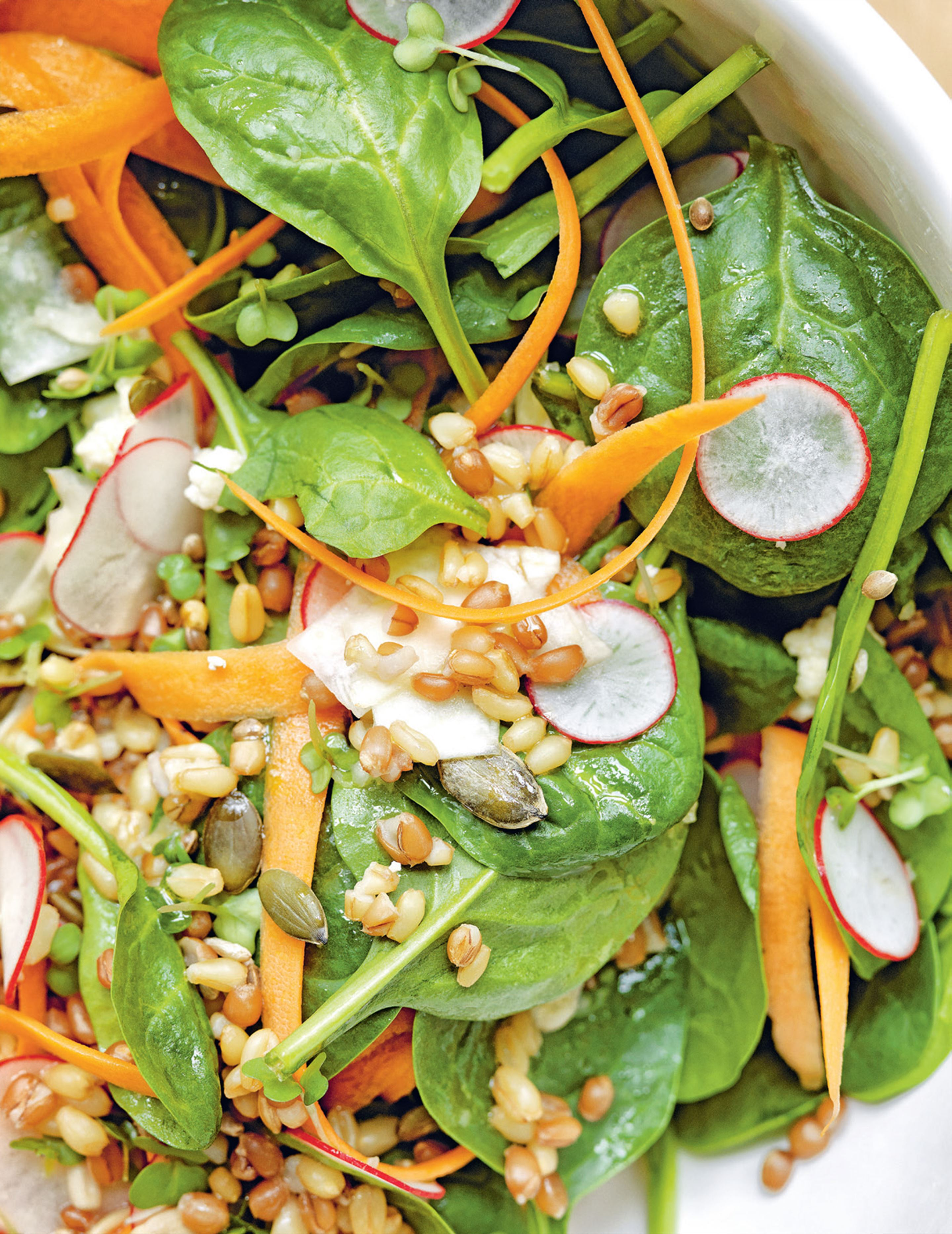 Winter grain & vegetable salad with honey & mustard dressing