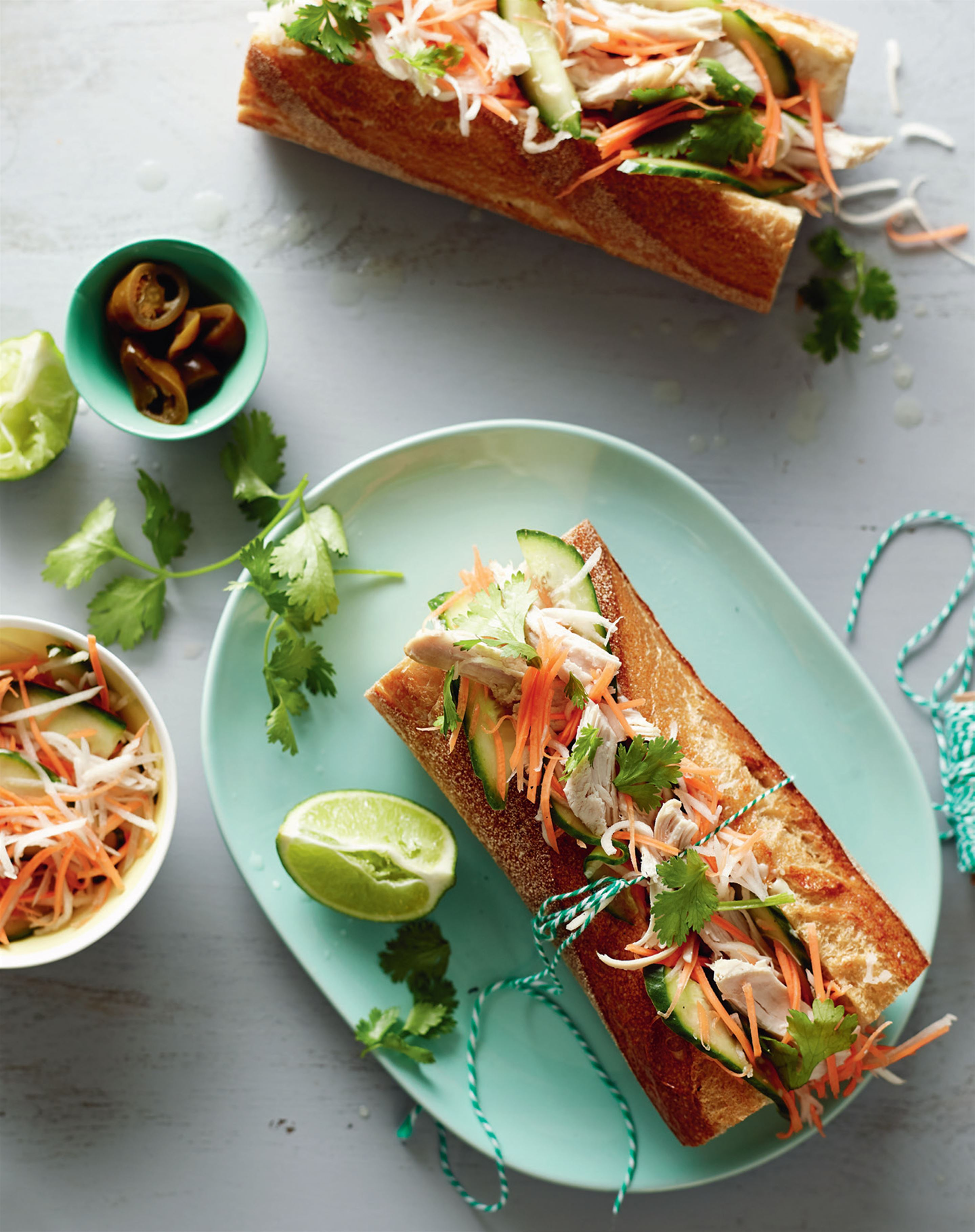 Barbecue chicken banh mi