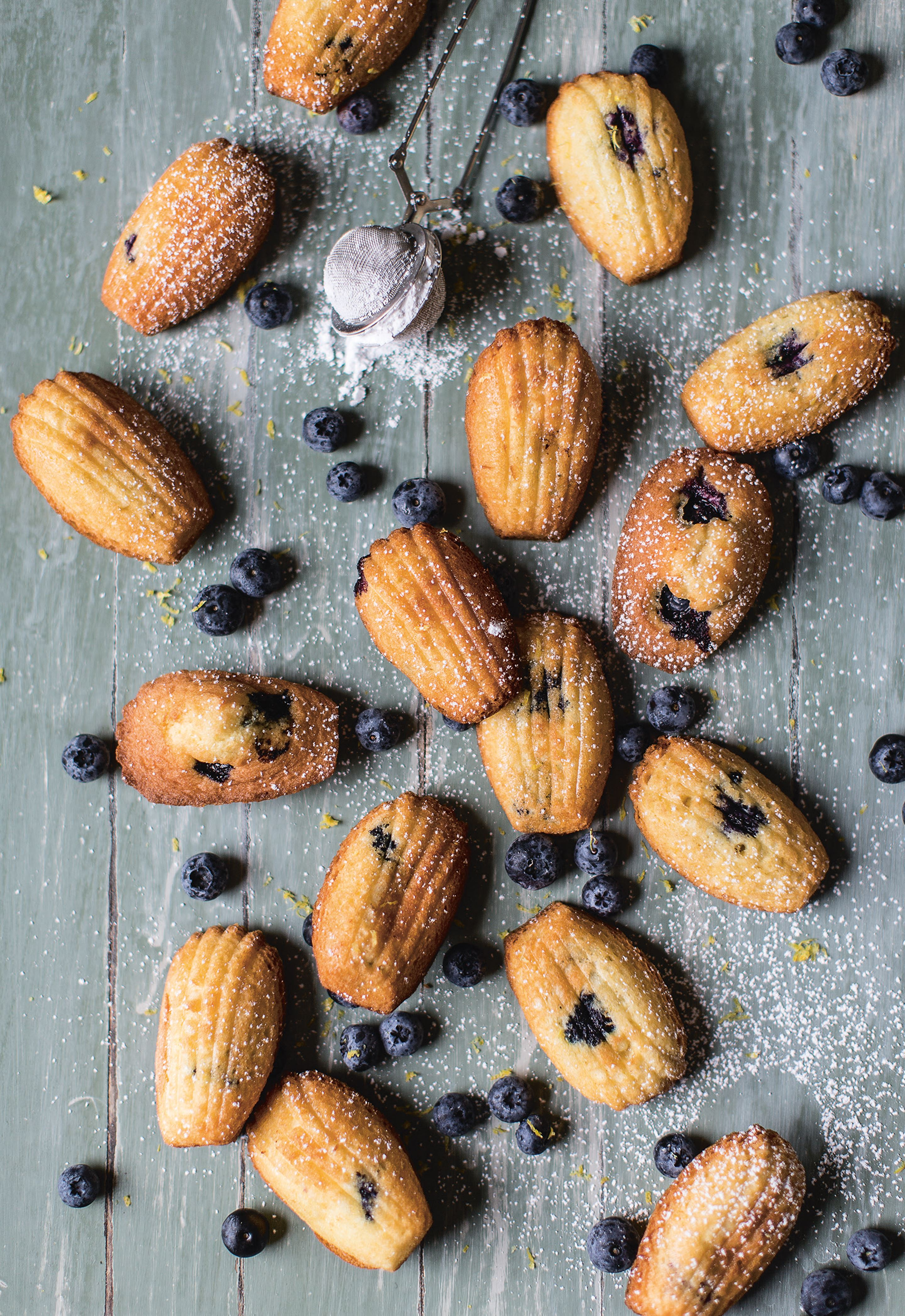 Lemon & blueberry madeleines
