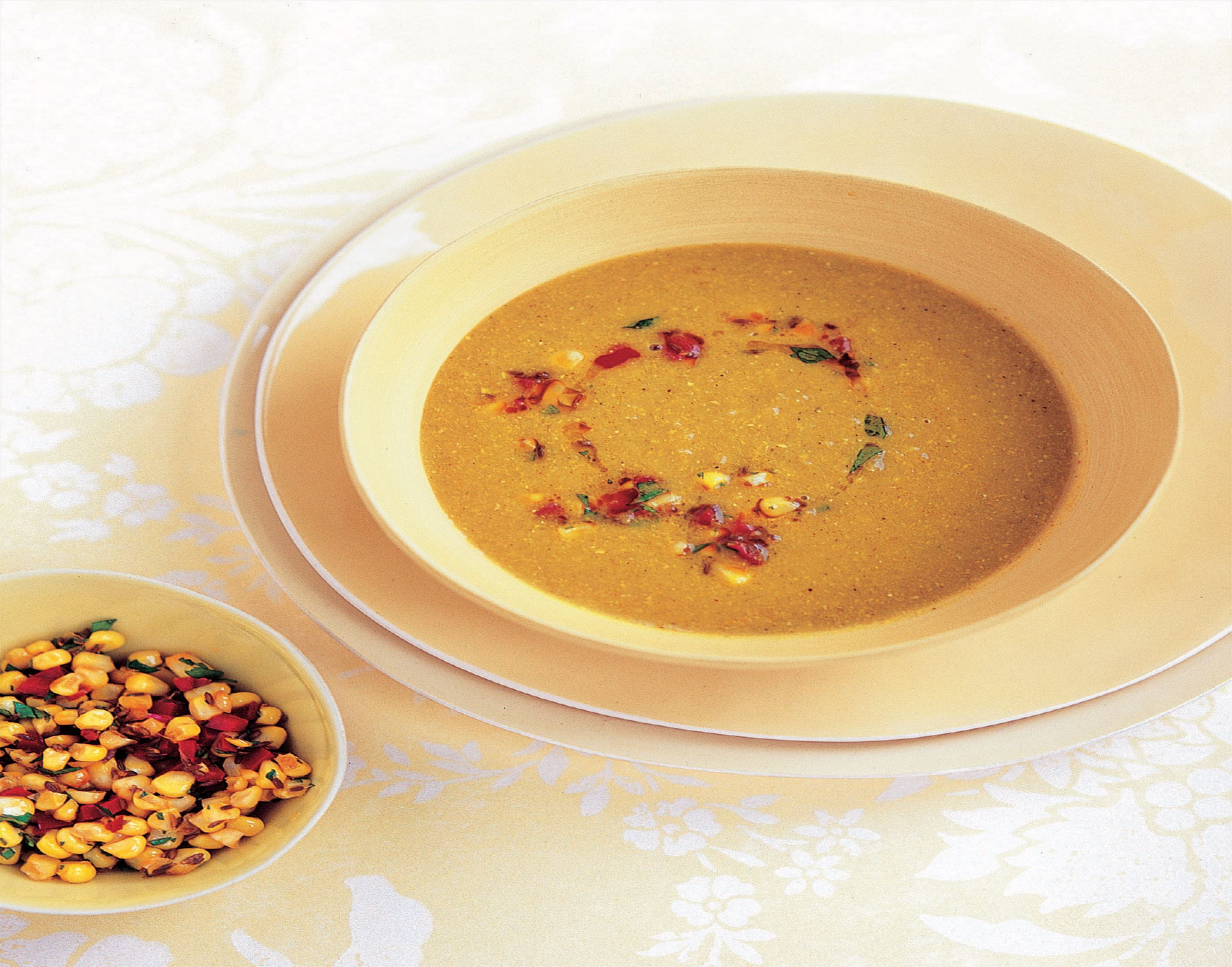 Spicy sweetcorn soup