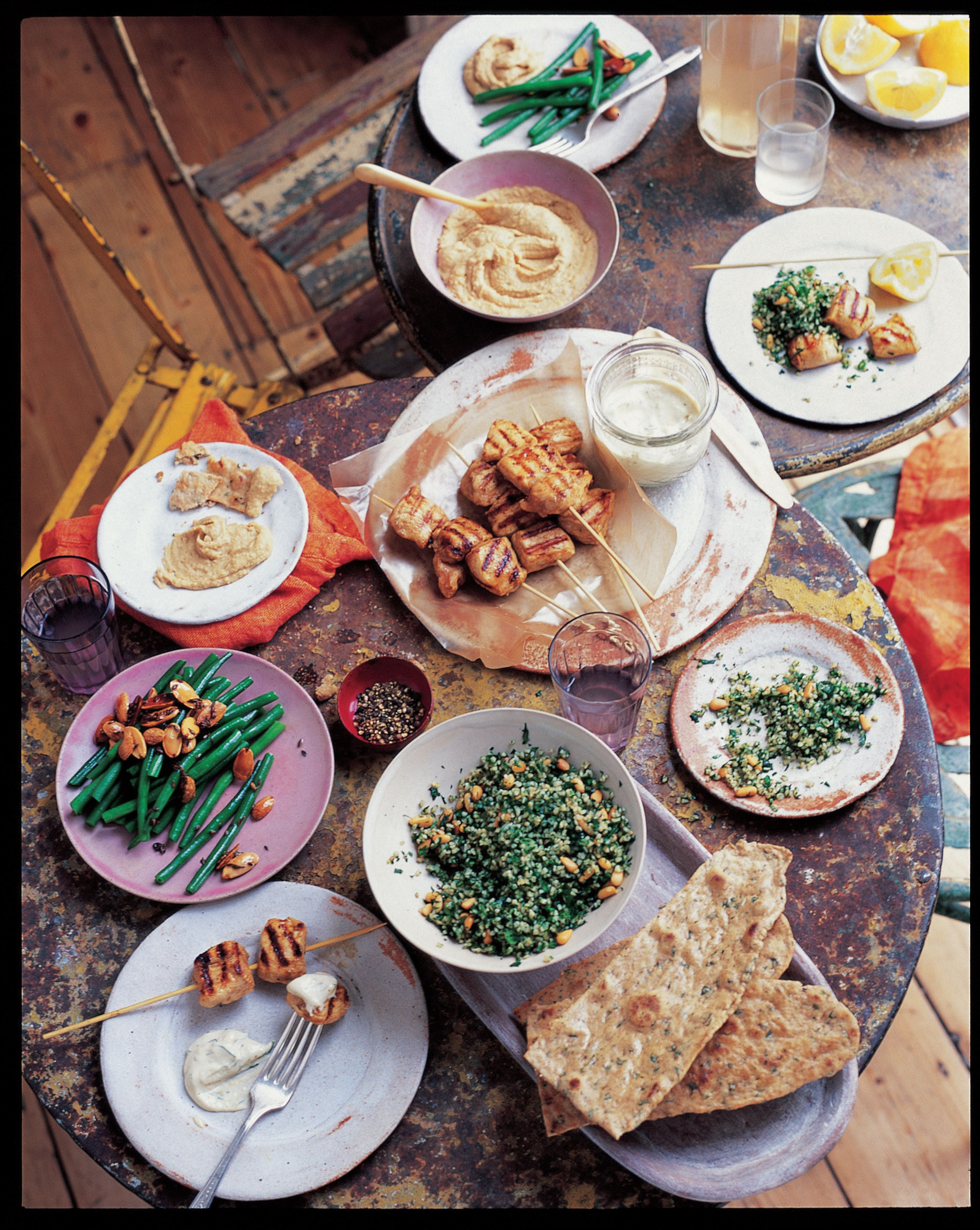 Middle Eastern mezze plate