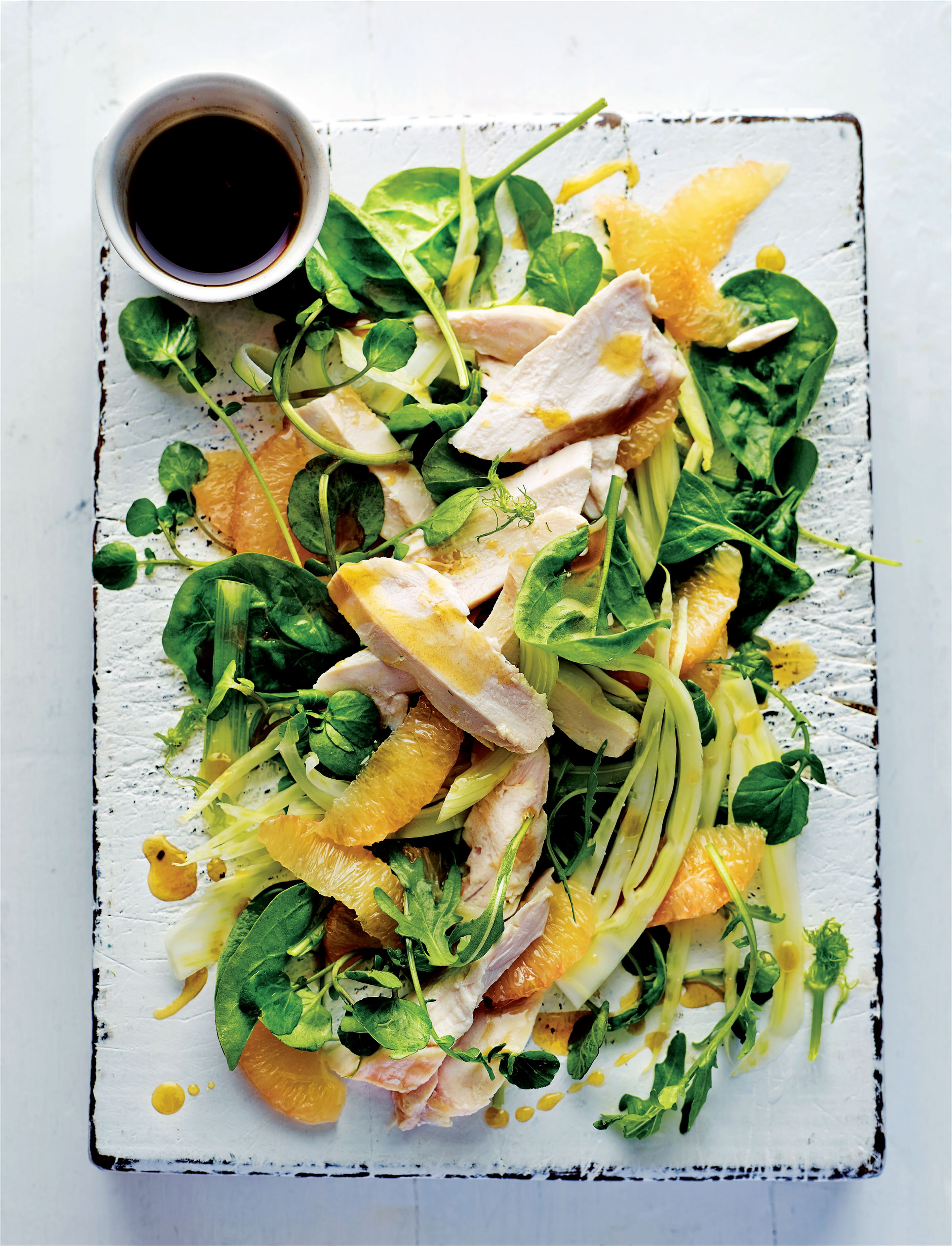 Chicken and pink grapefruit powerhouse salad