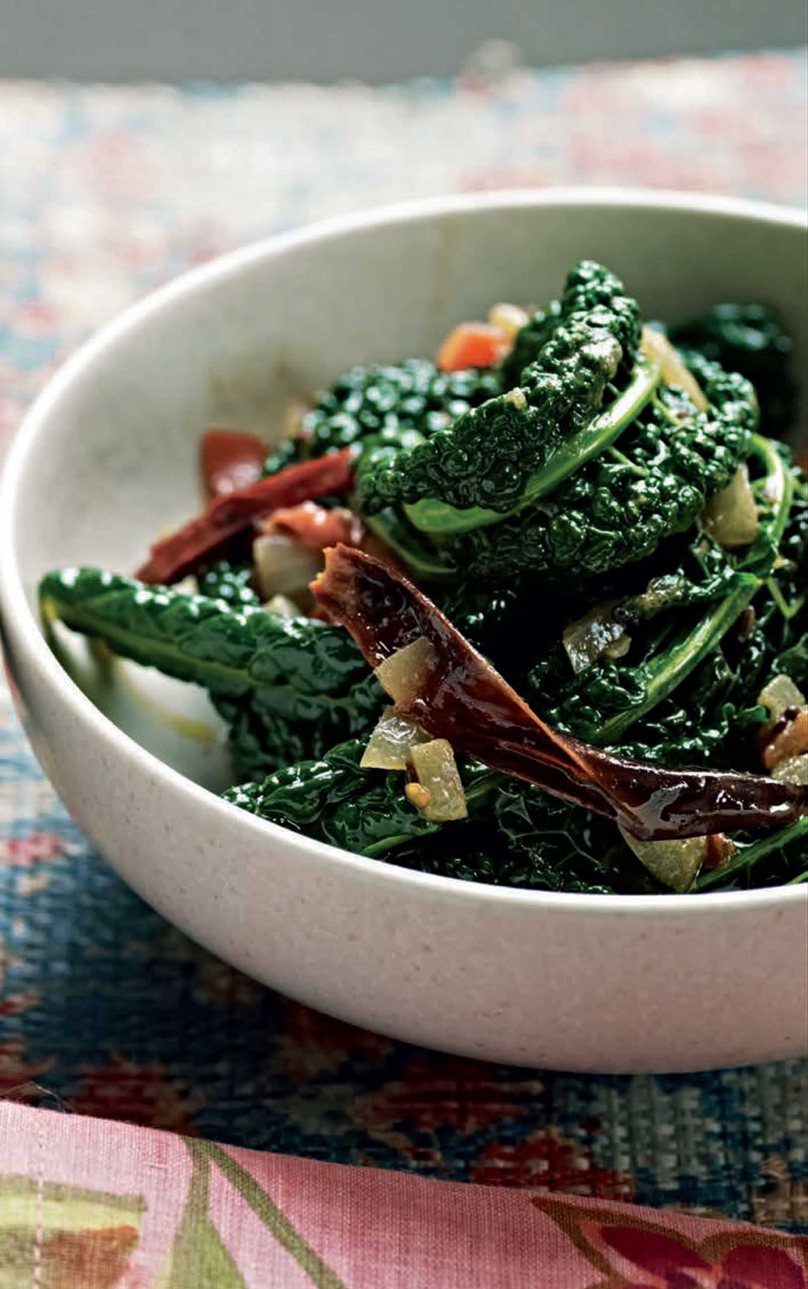Spiced steam-cooked cavolo nero
