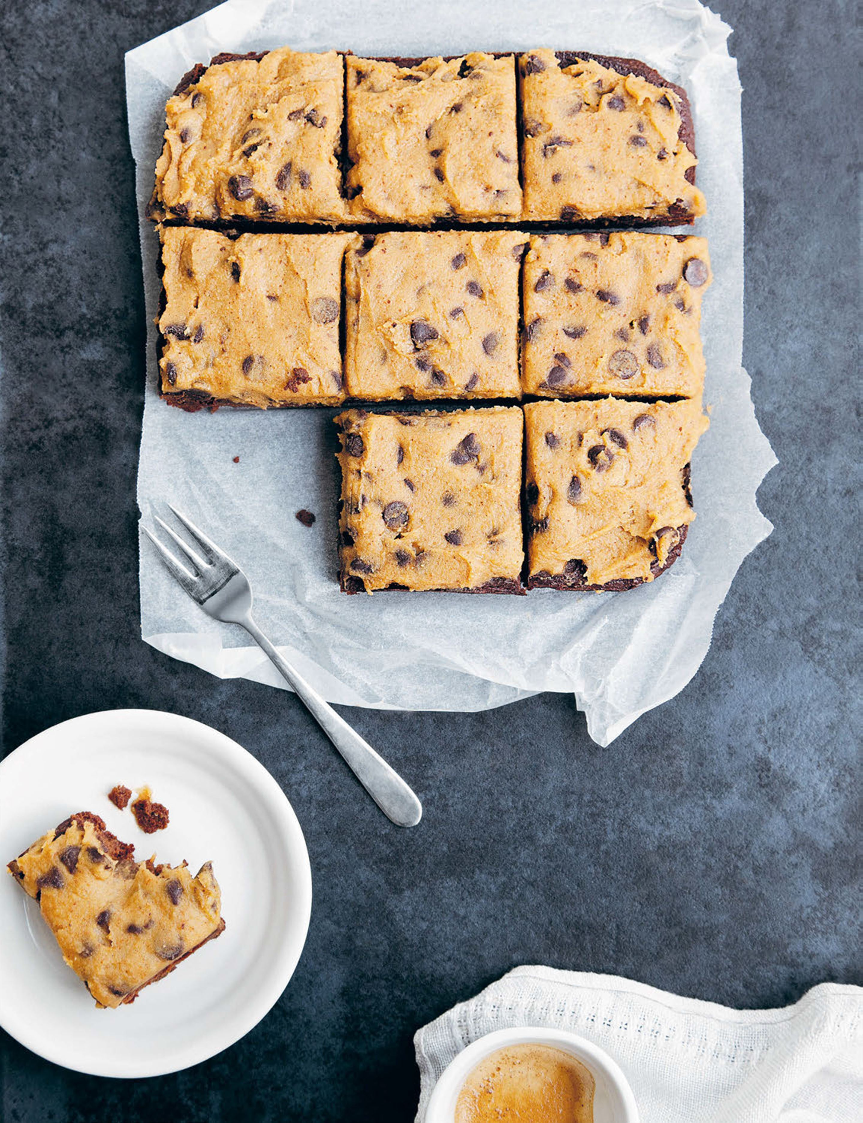 Sweet potato brownies with chickpea cookie dough