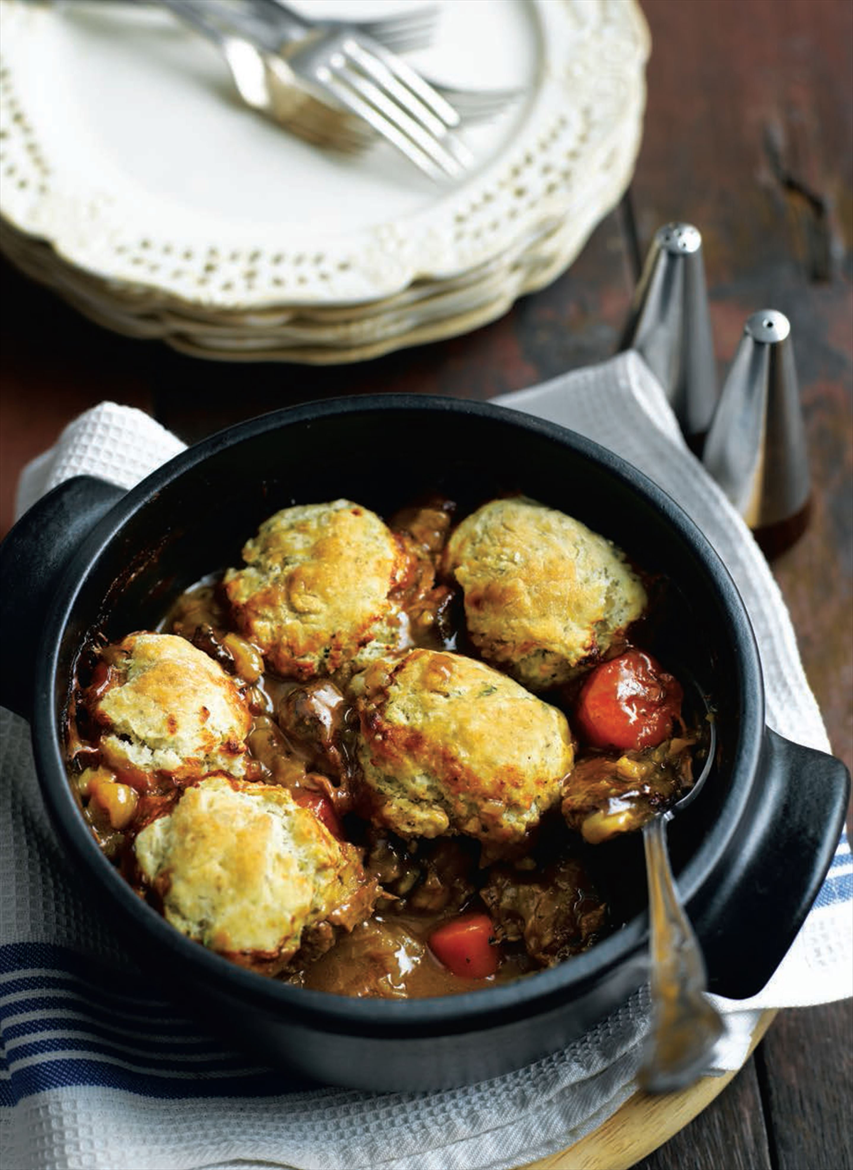 Beef stew with herby dumplings