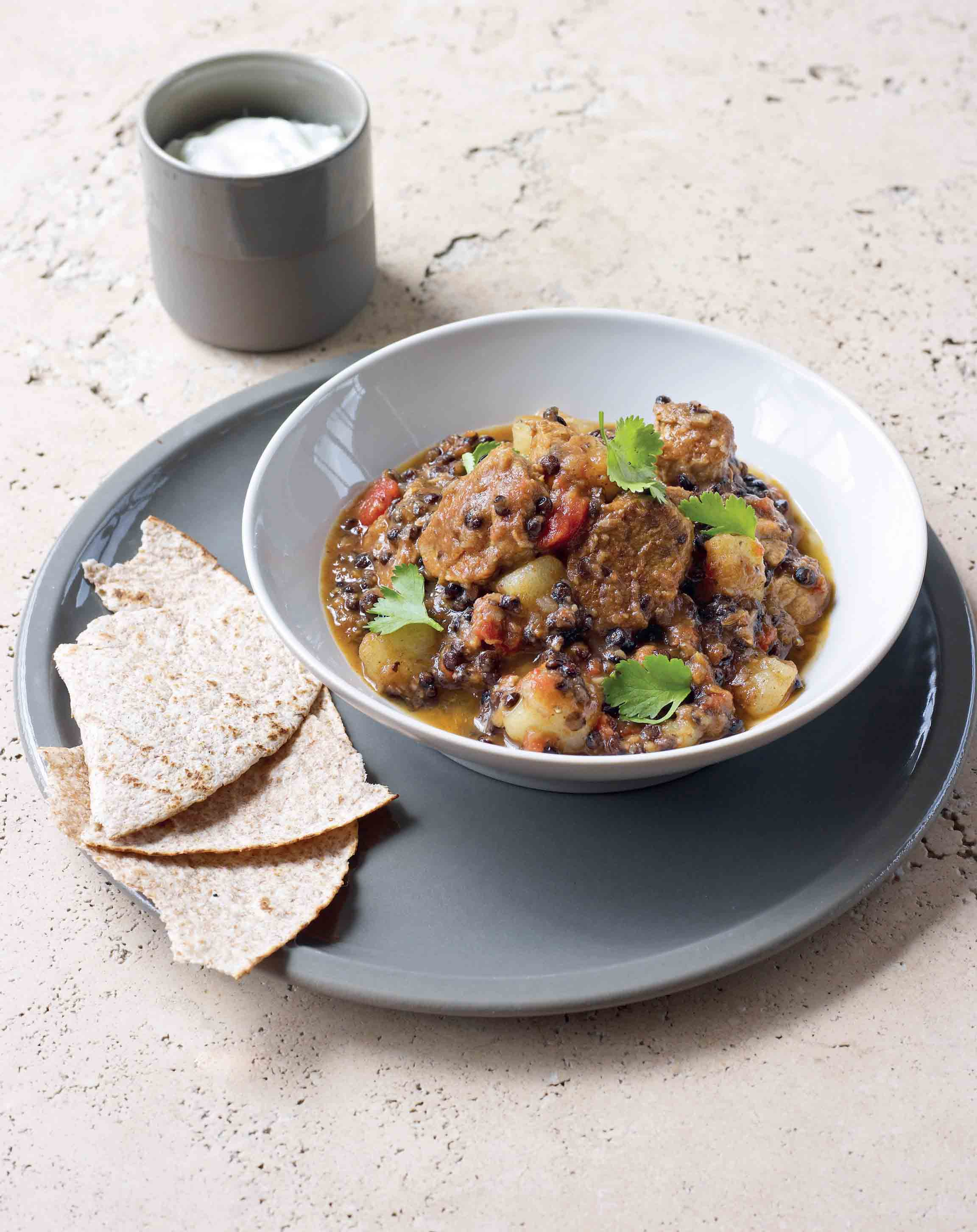 Lamb and lentil curry