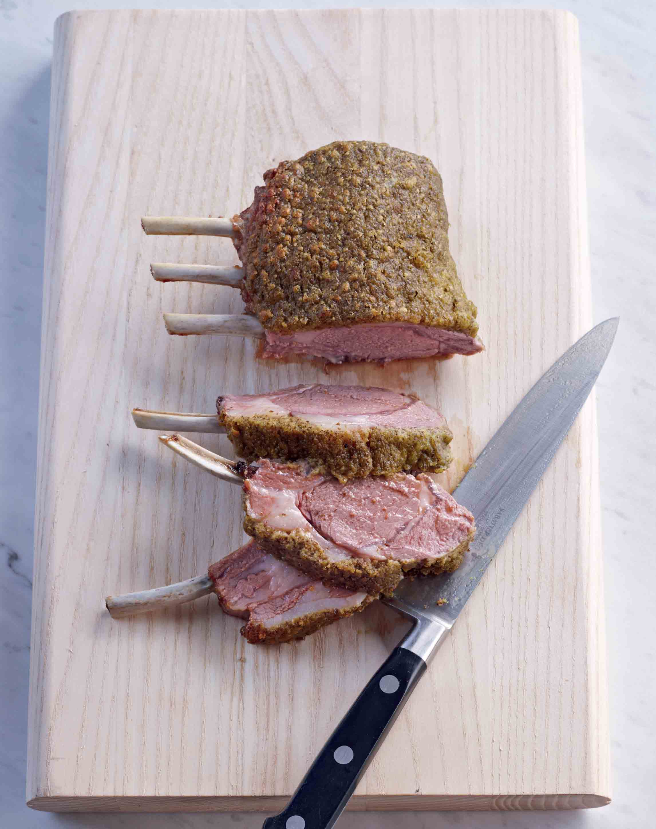 Rack of lamb with a mustard and herb crust
