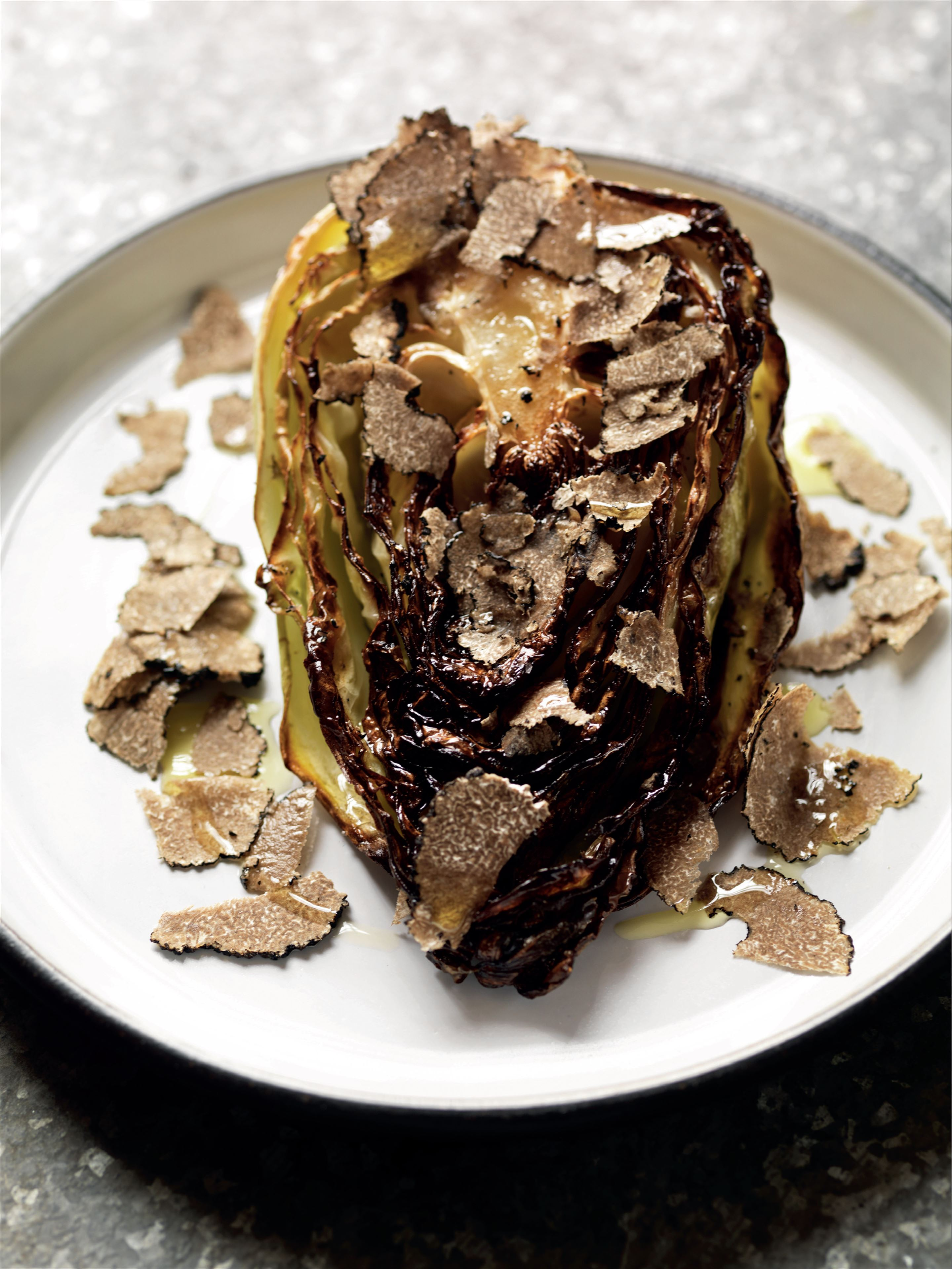 Truffled pointed cabbage