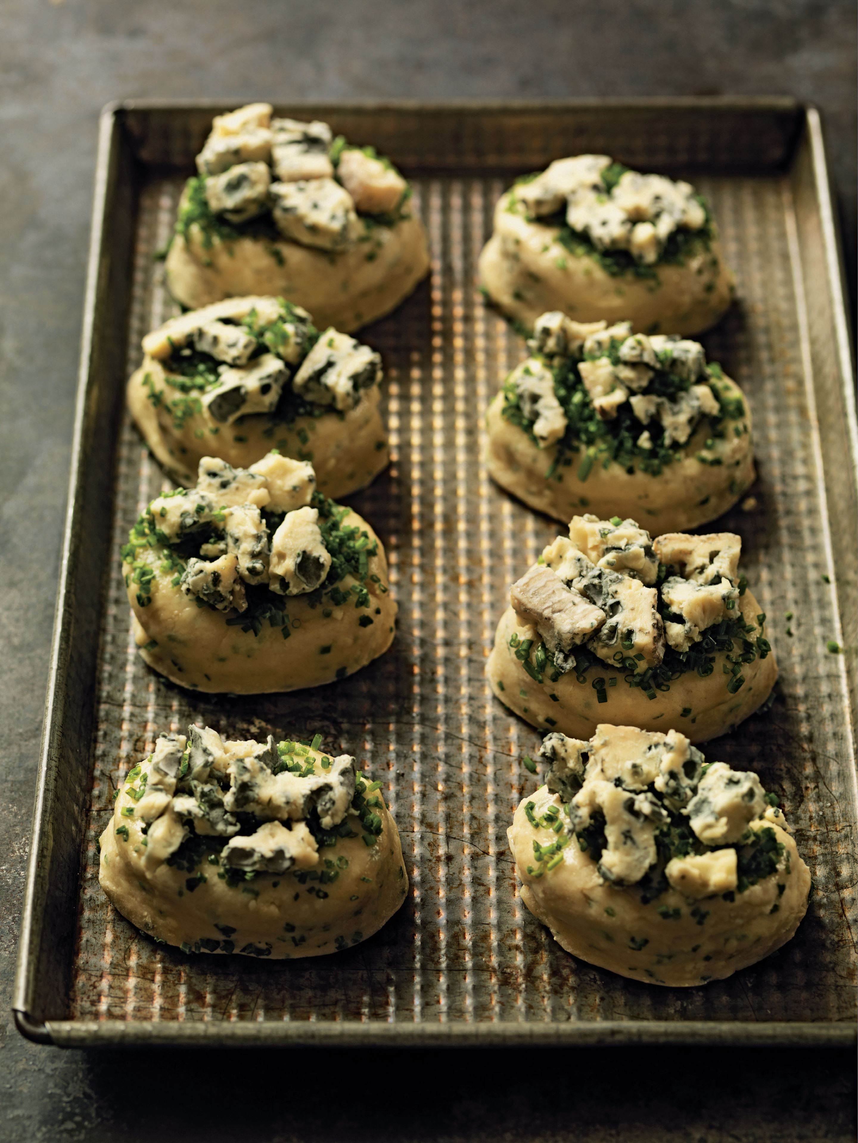 Blue cheese and chive scones