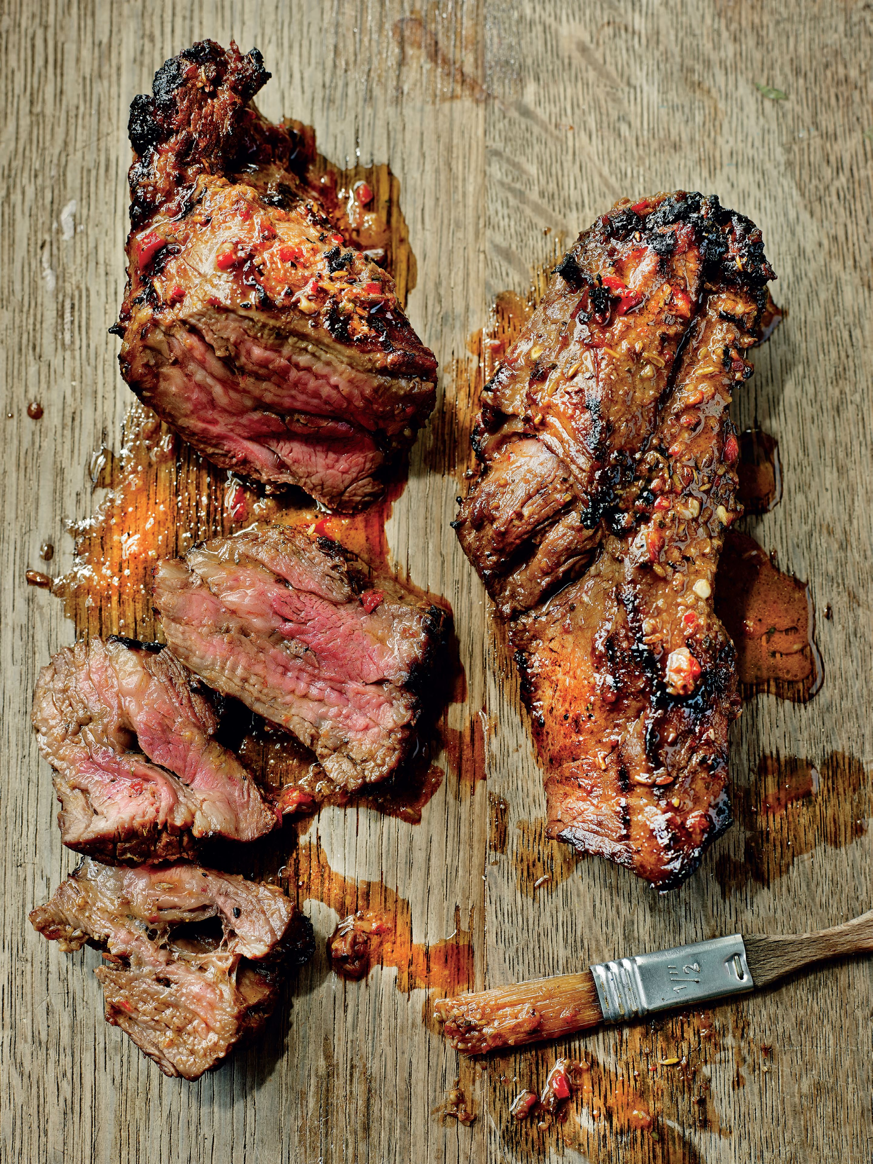 Chilli and cumin marinated hanger steak