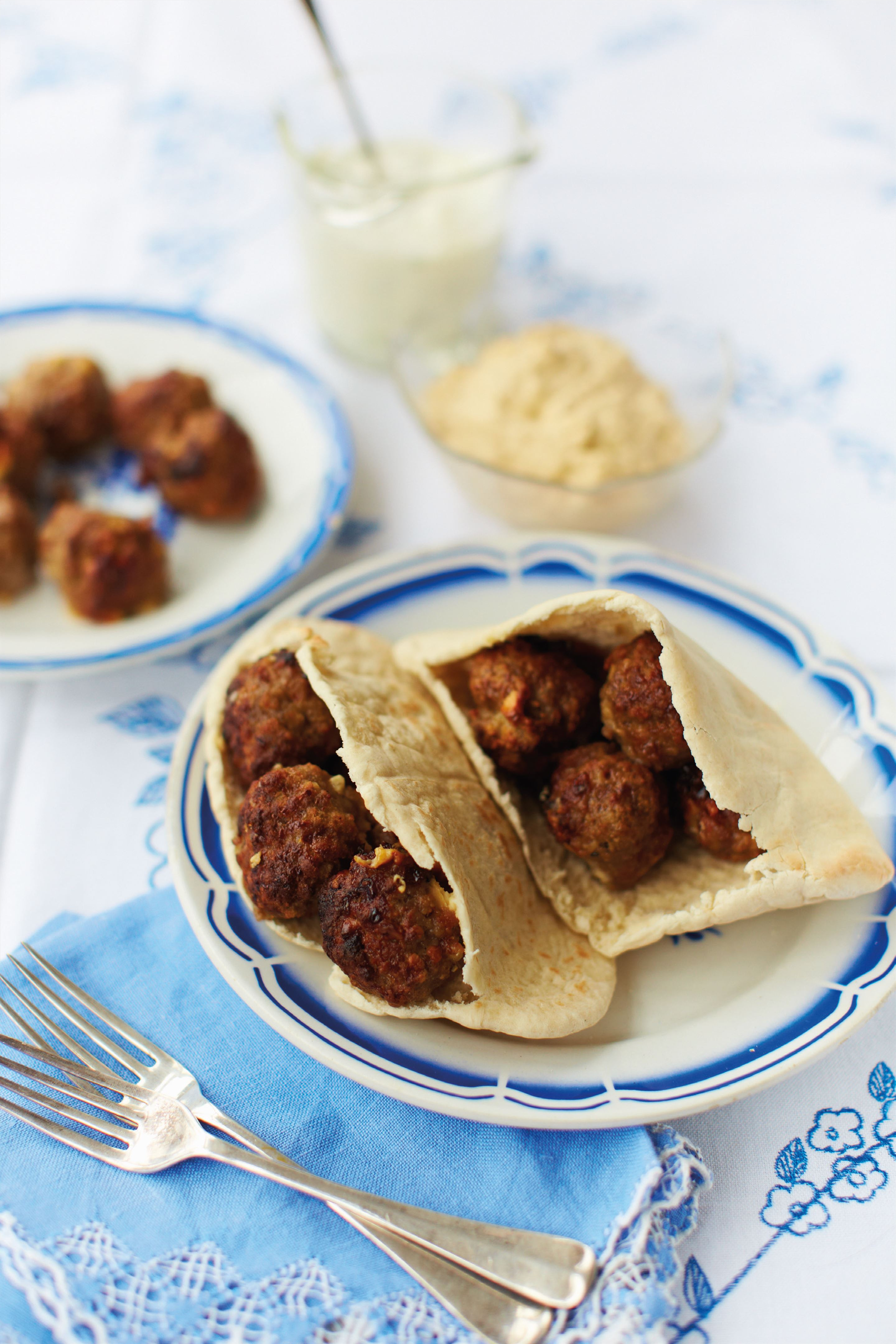 Greek-inspired meatballs