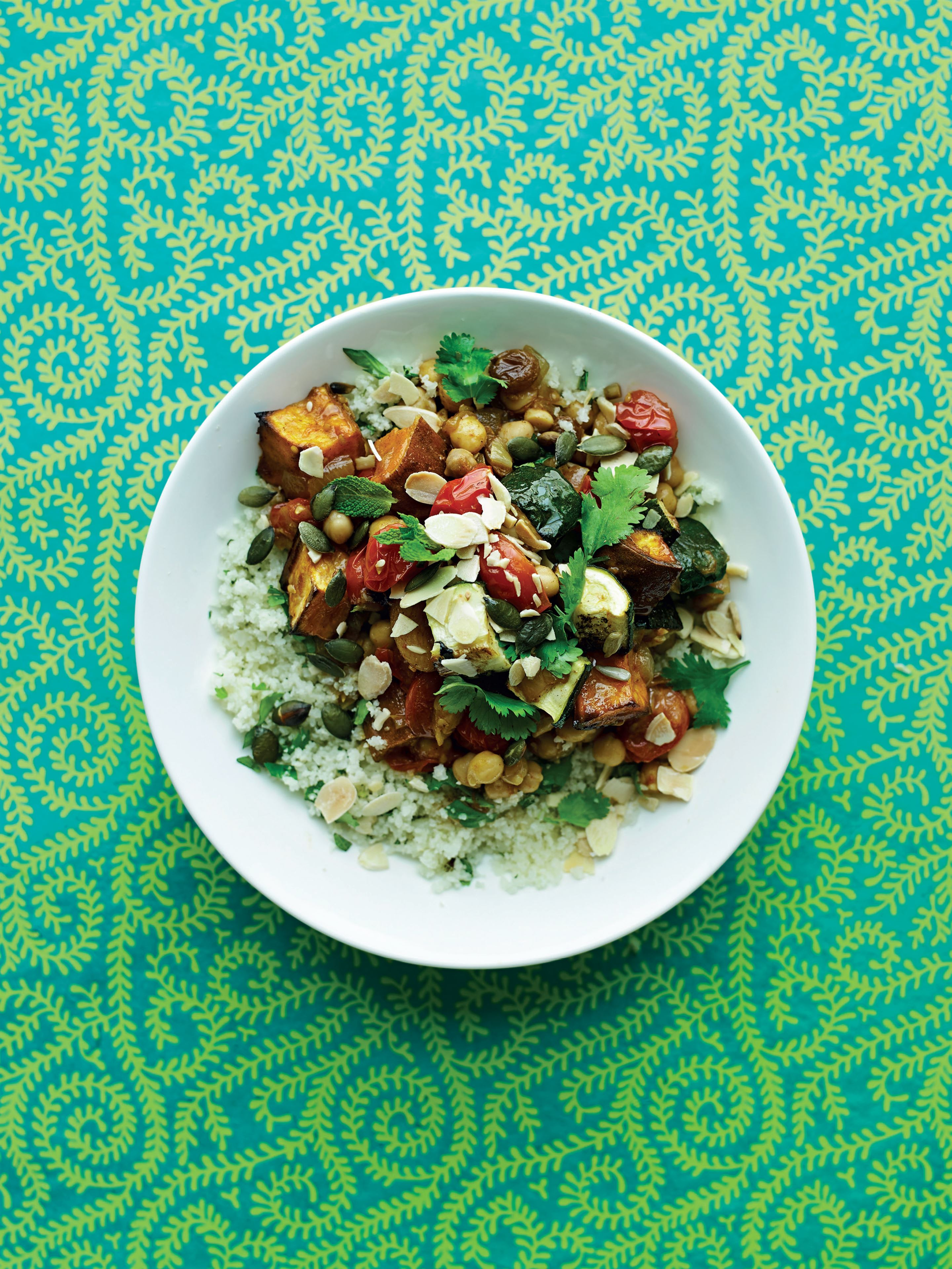 North African tagine with cauliflower 'couscous'