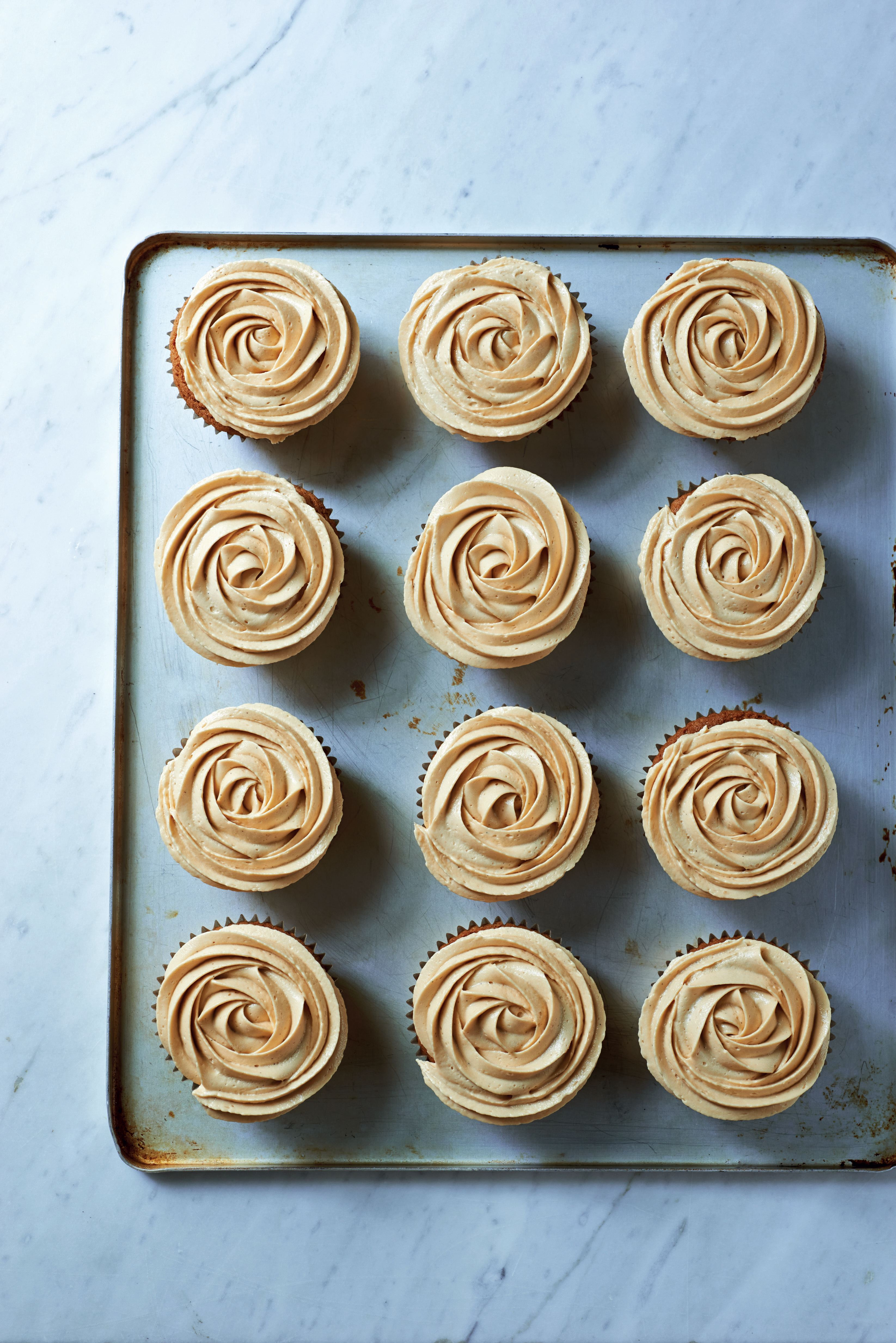 Muscovado and salted caramel cupcakes