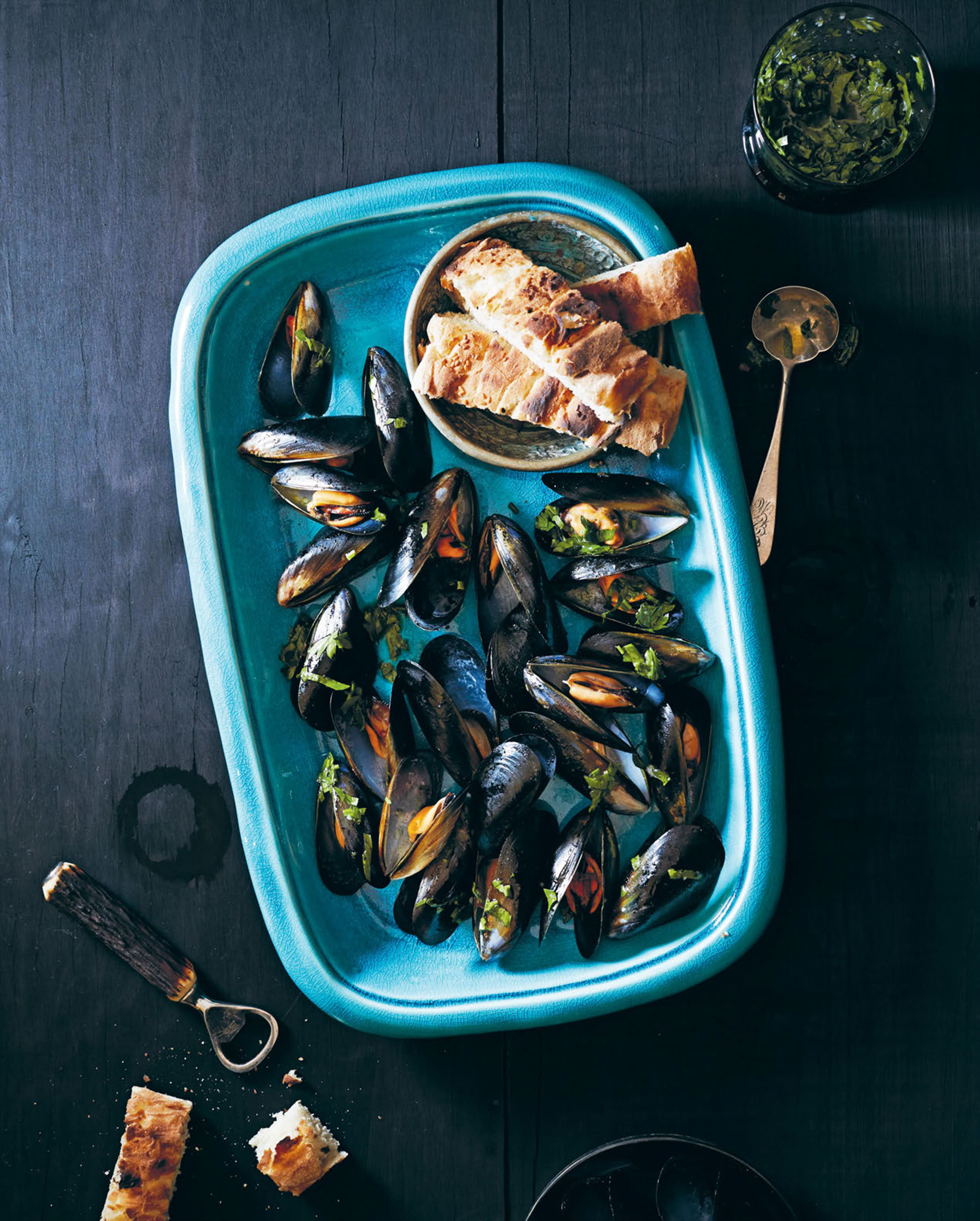 Barbecued mussels