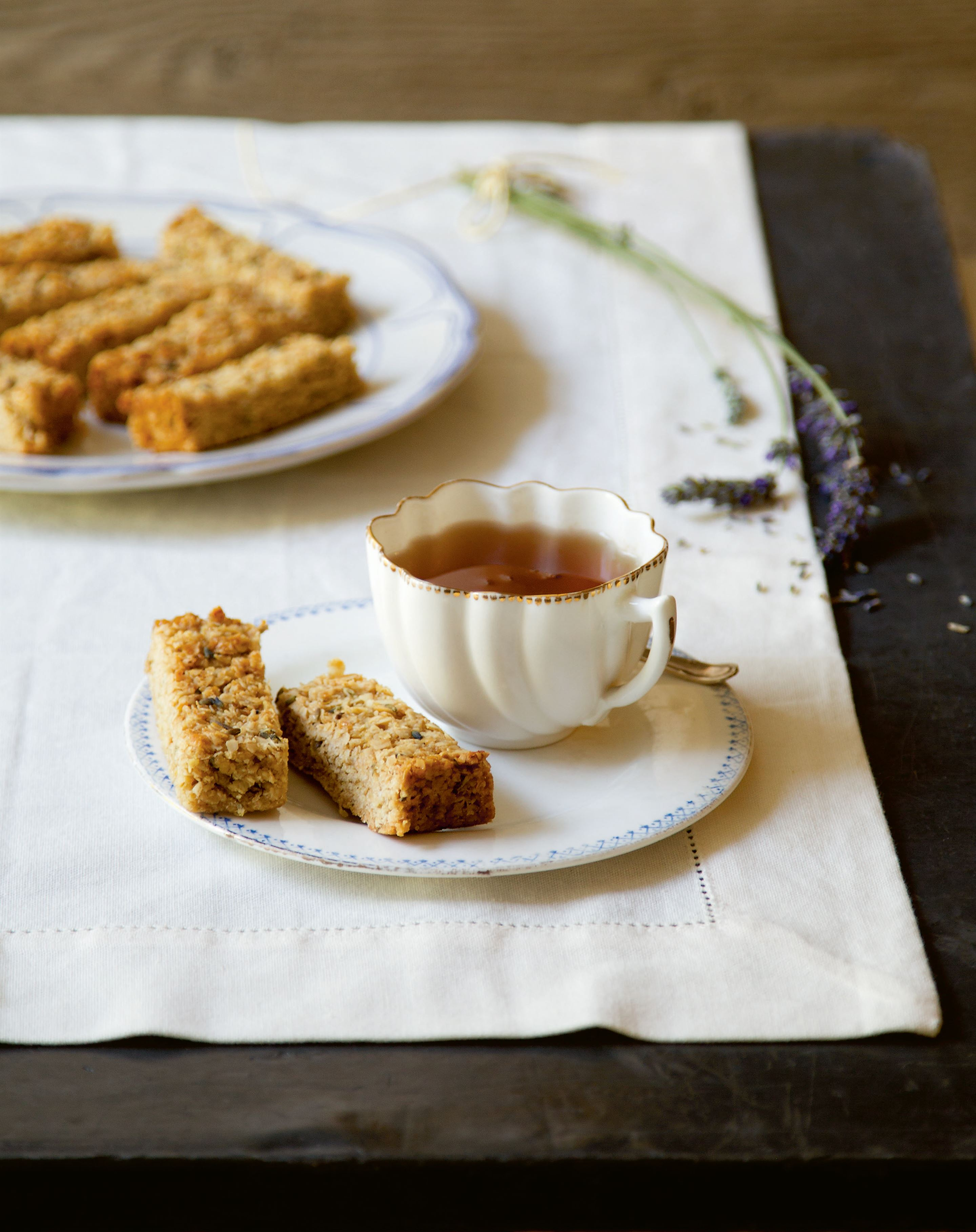 Honey lavender flapjack