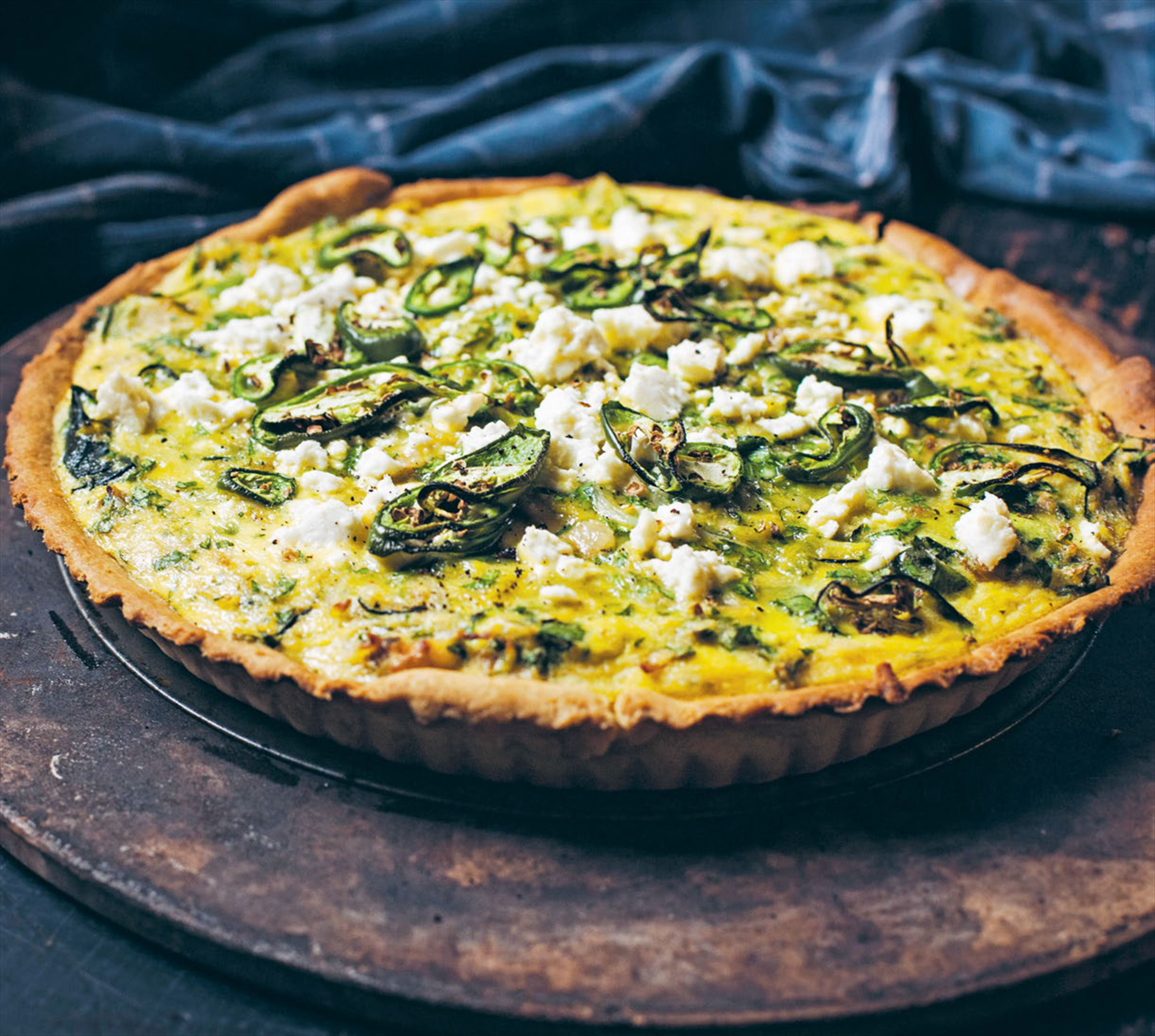Backyarders' zucchini & smoked-bacon quiche