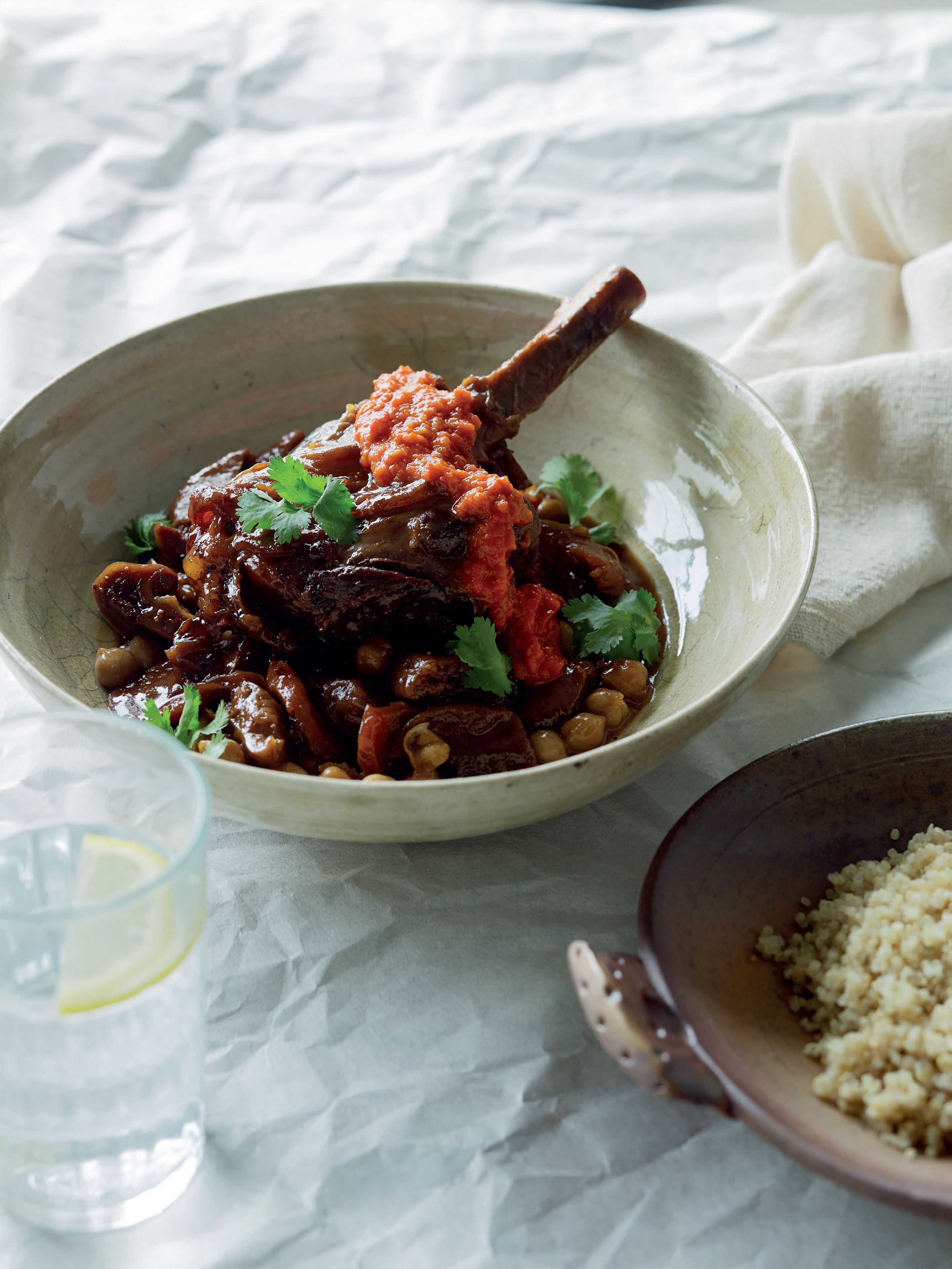Lamb shank and fig tagine