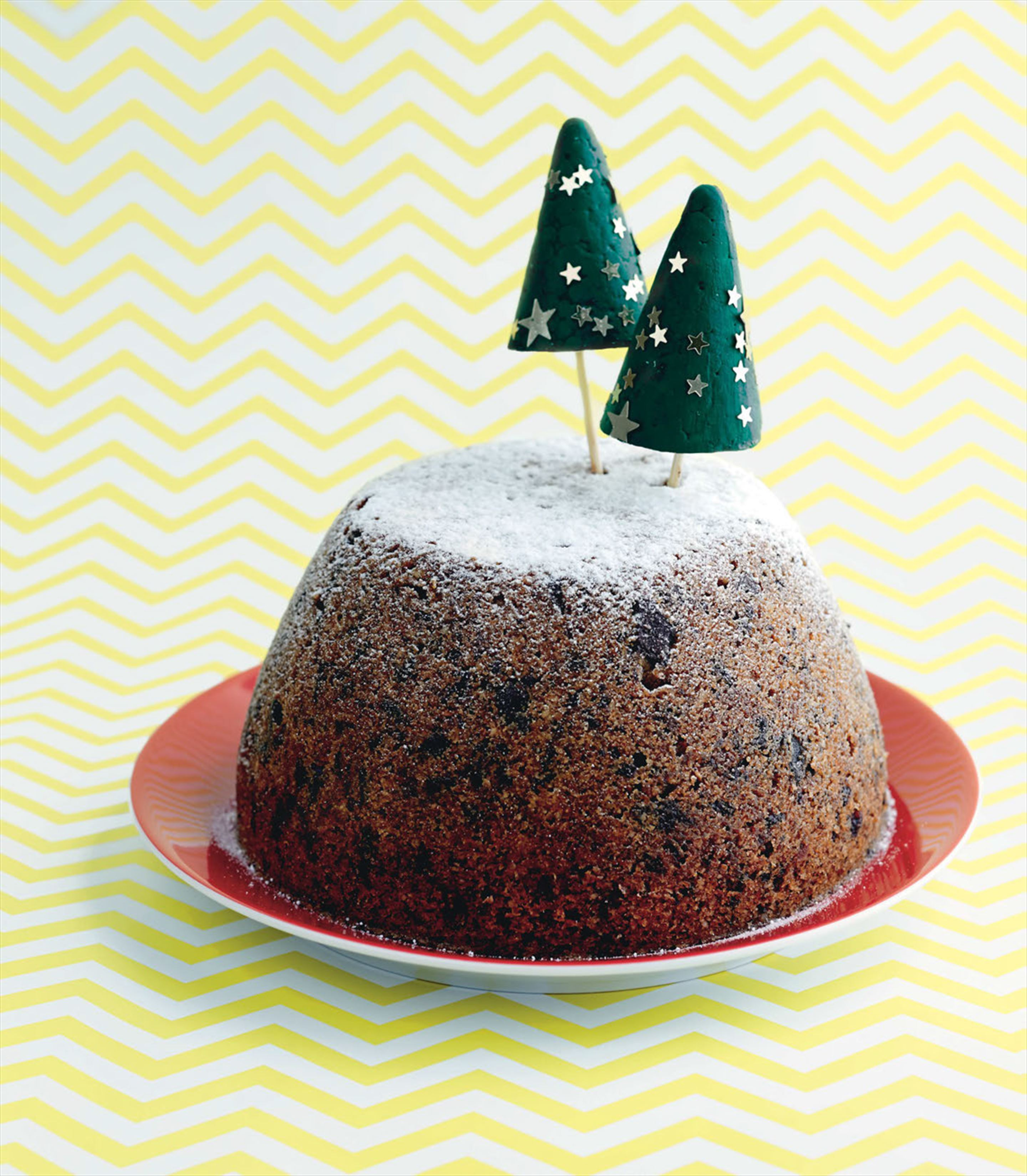 Chocolate and hazelnut Christmas pudding