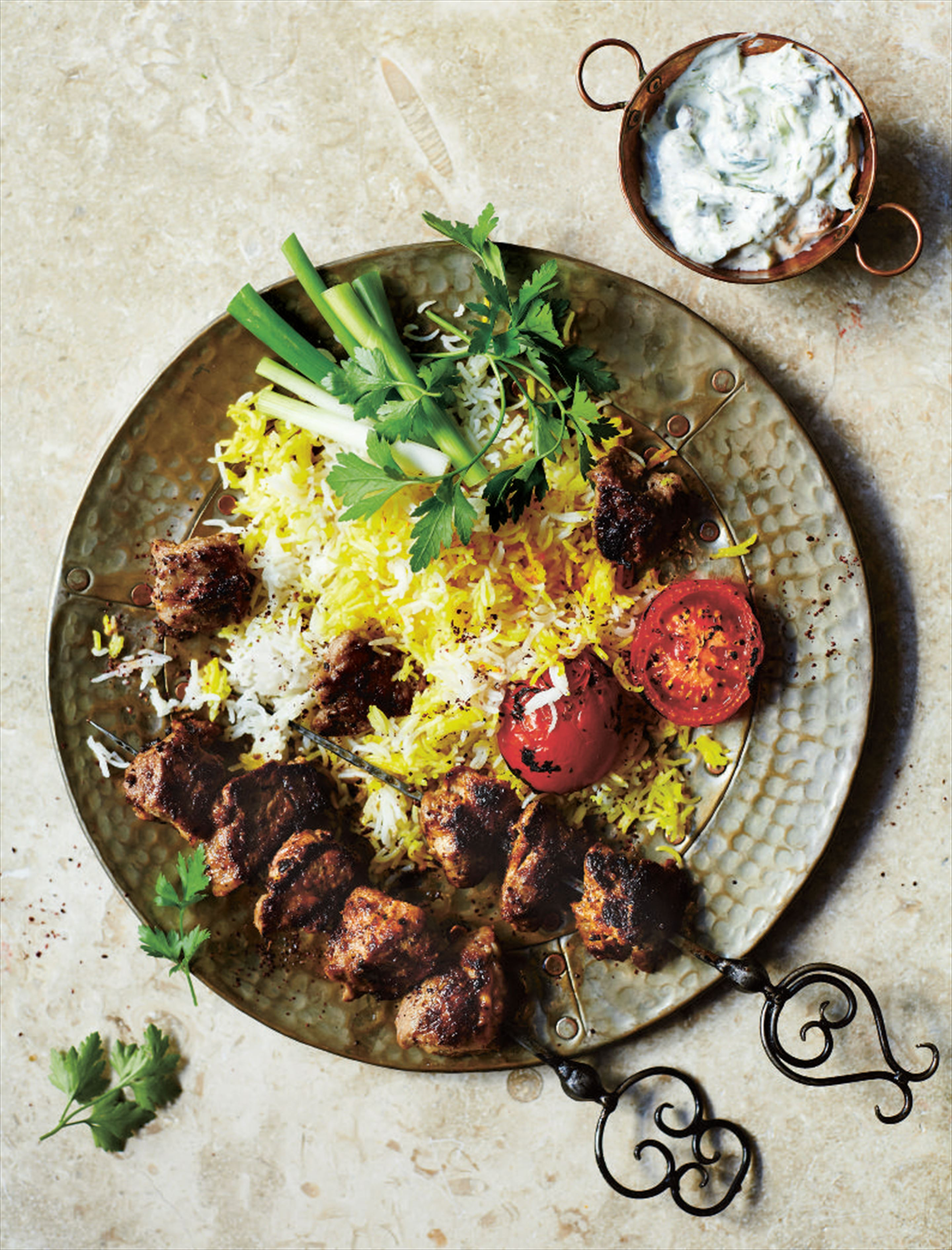 Dr Asaf's juicy lamb kebabs