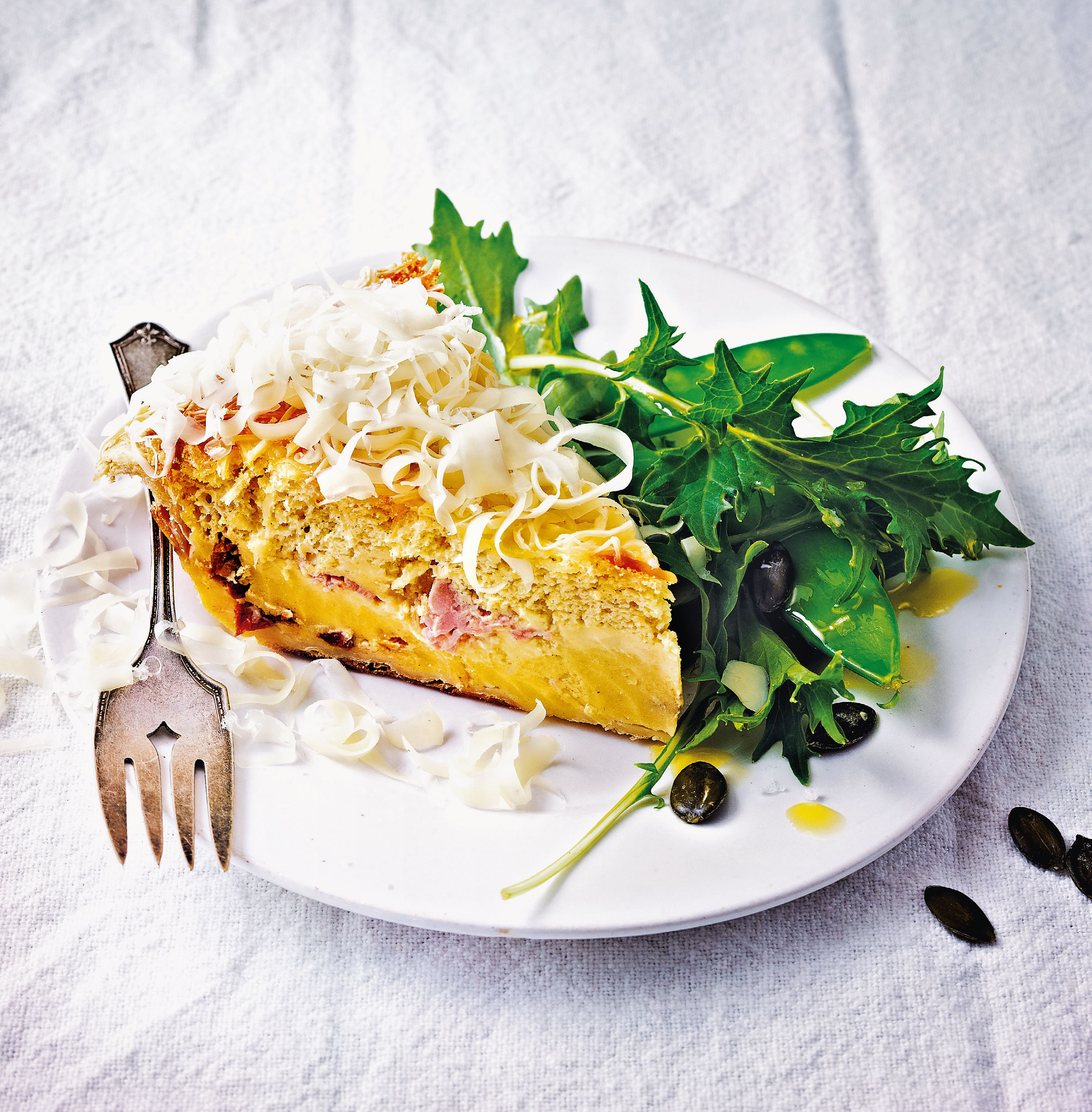 Magic mustard quiche