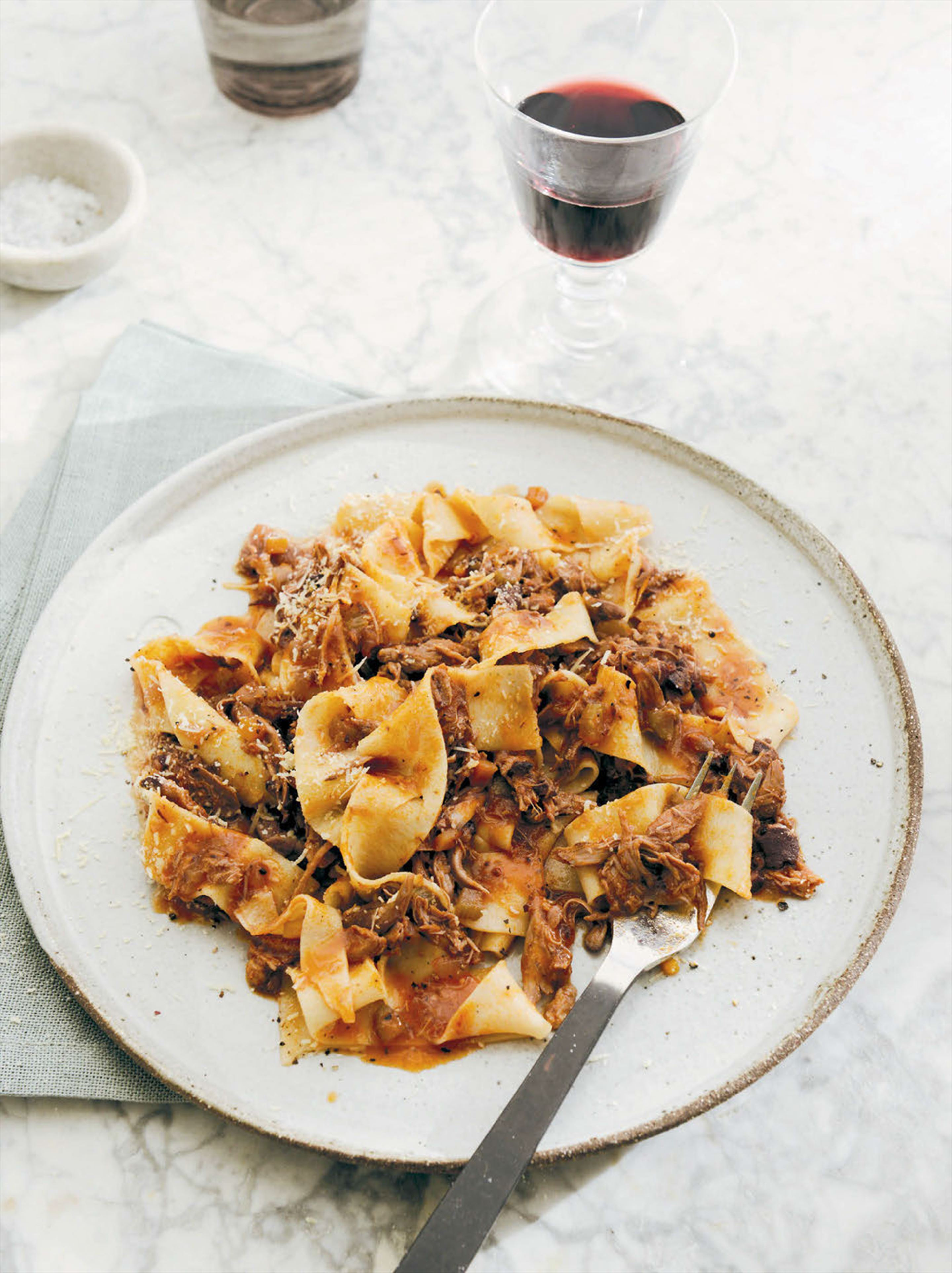Pappardelle with duck sauce
