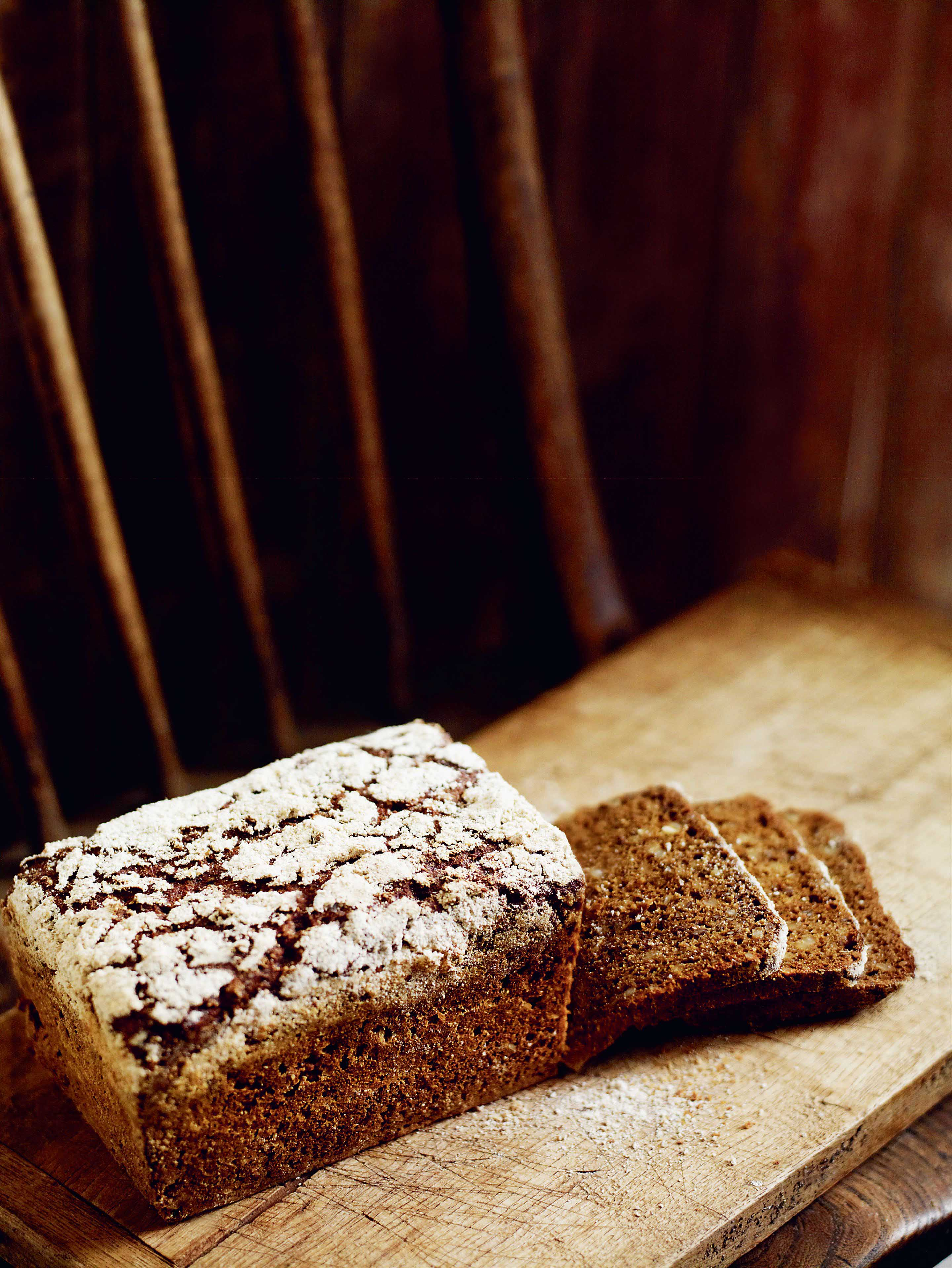 Dark rye bread with coriander seed & caraway