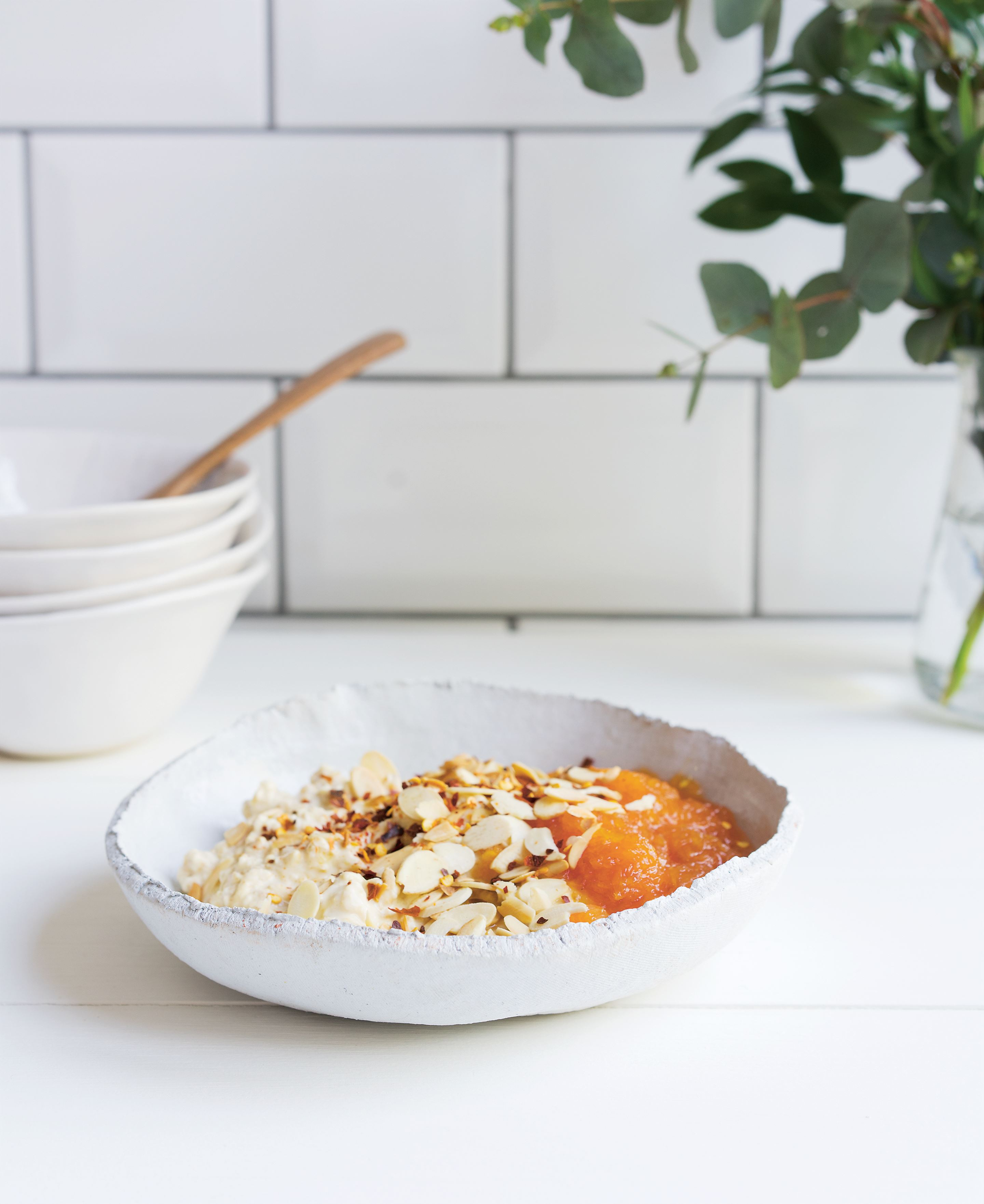 Orange + grapefruit bircher with chilli