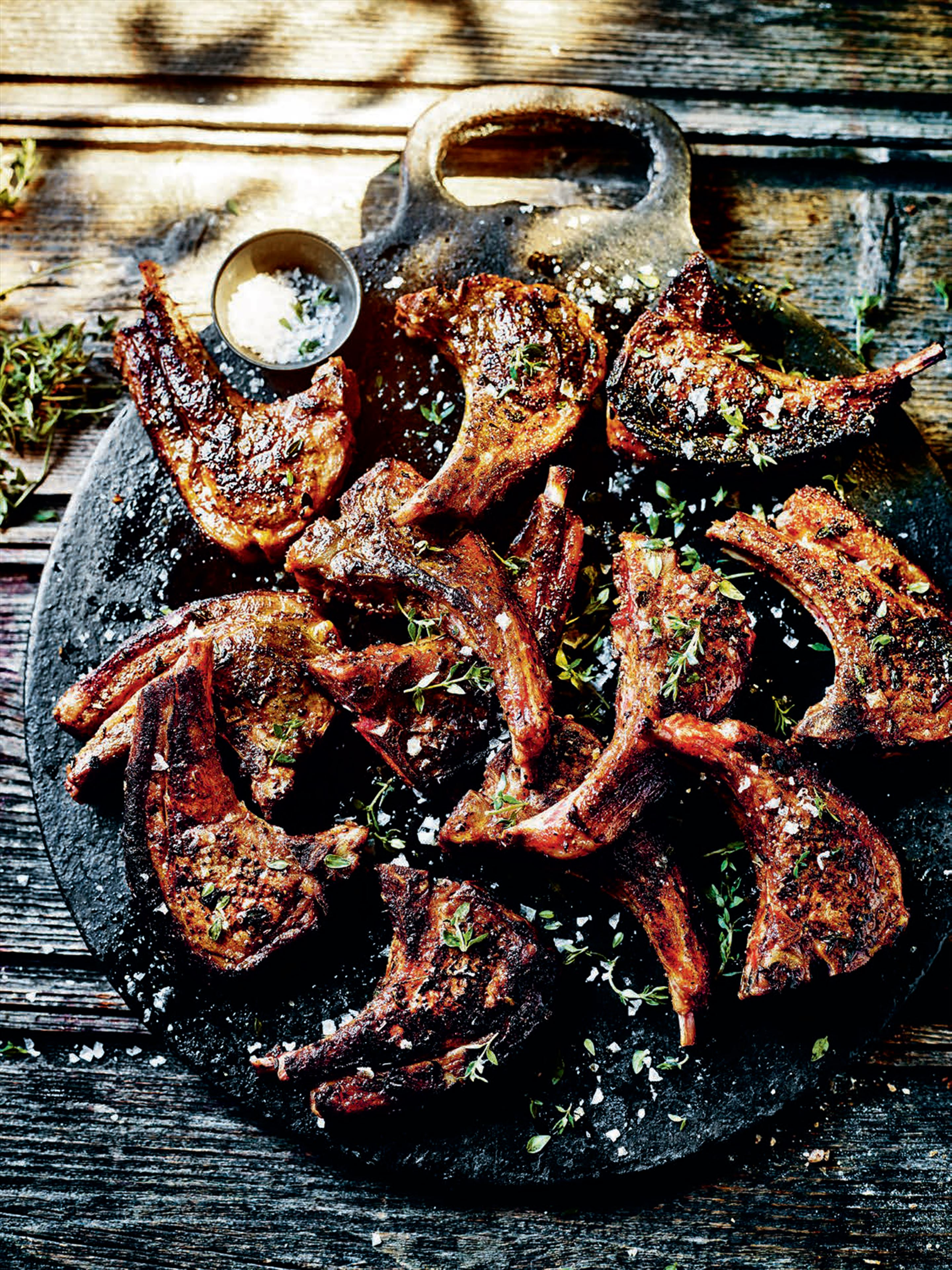 Moorish marinated lamb cutlets