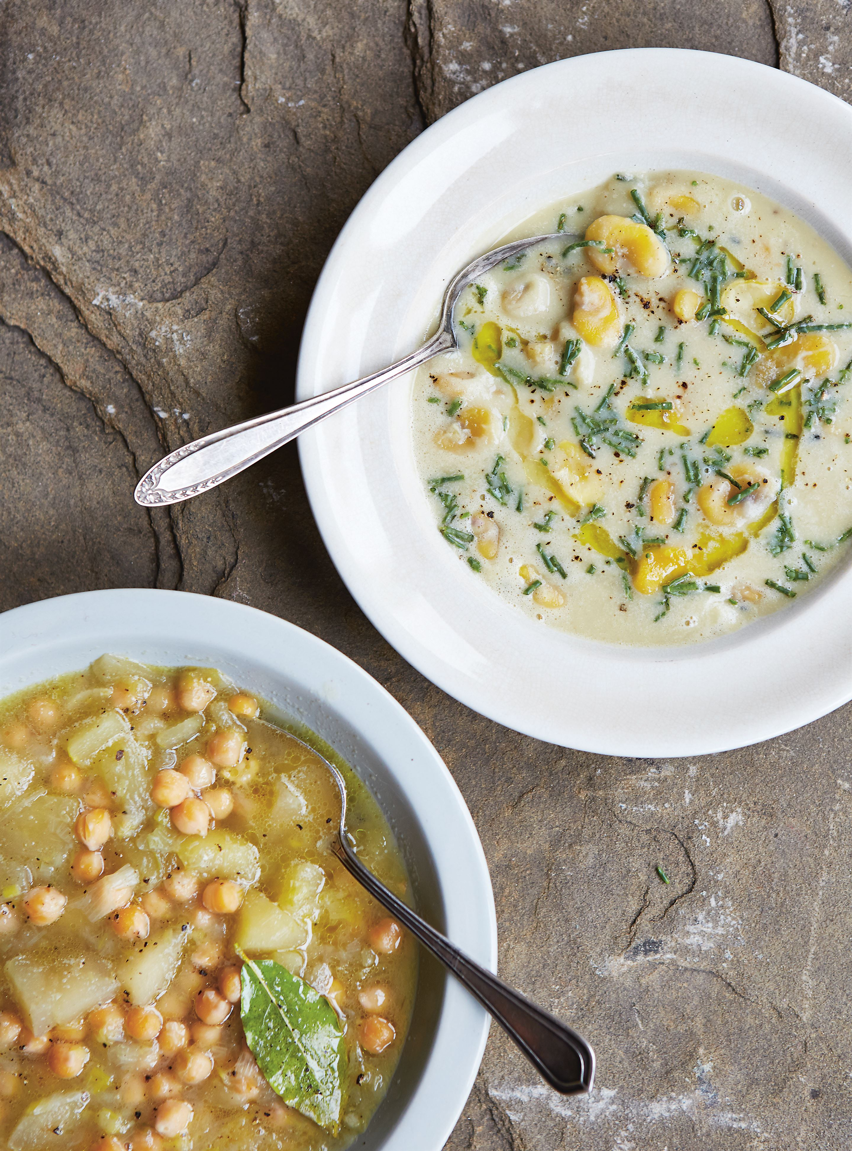 Broad bean & fennel seed soup
