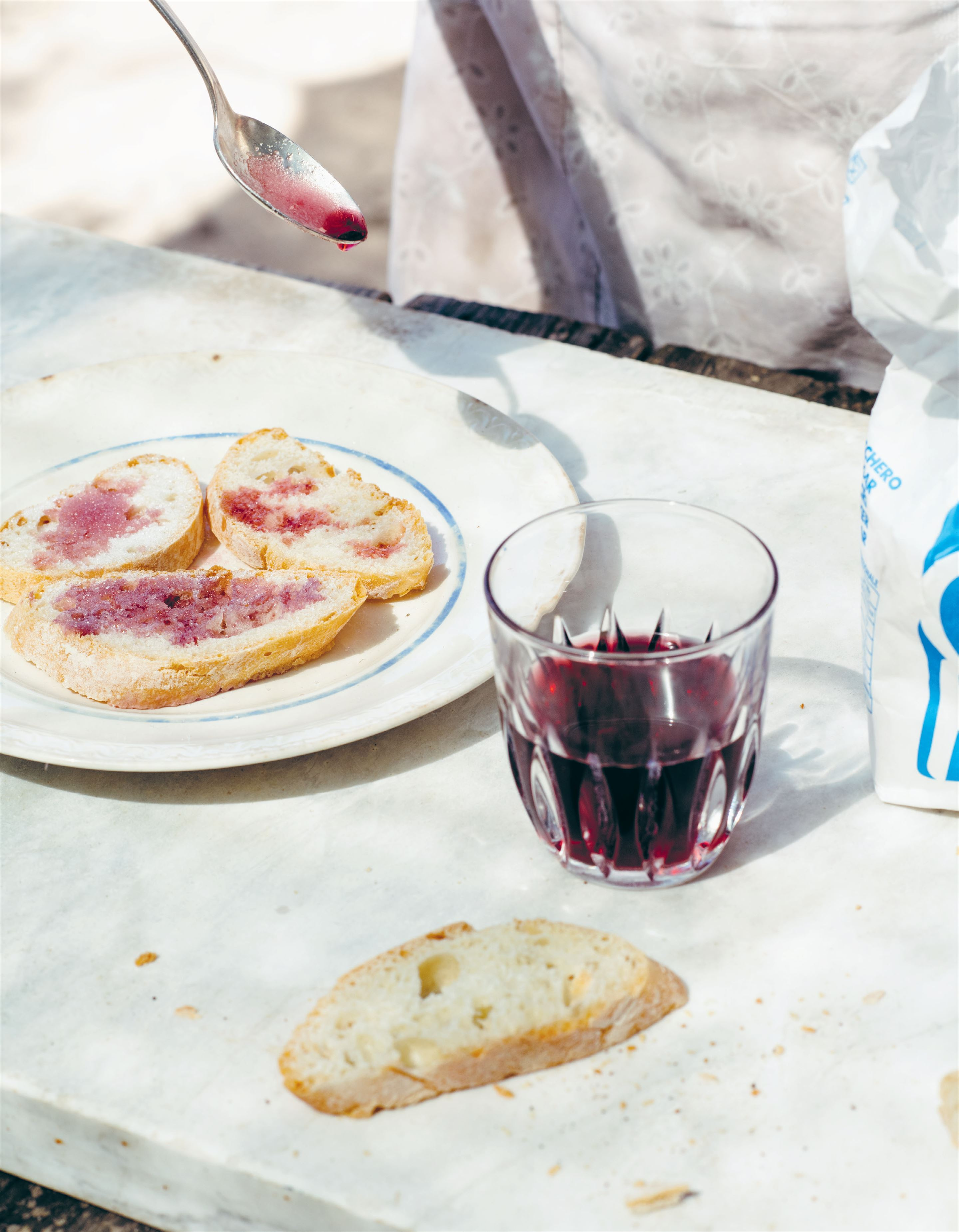 Bread, wine and sugar