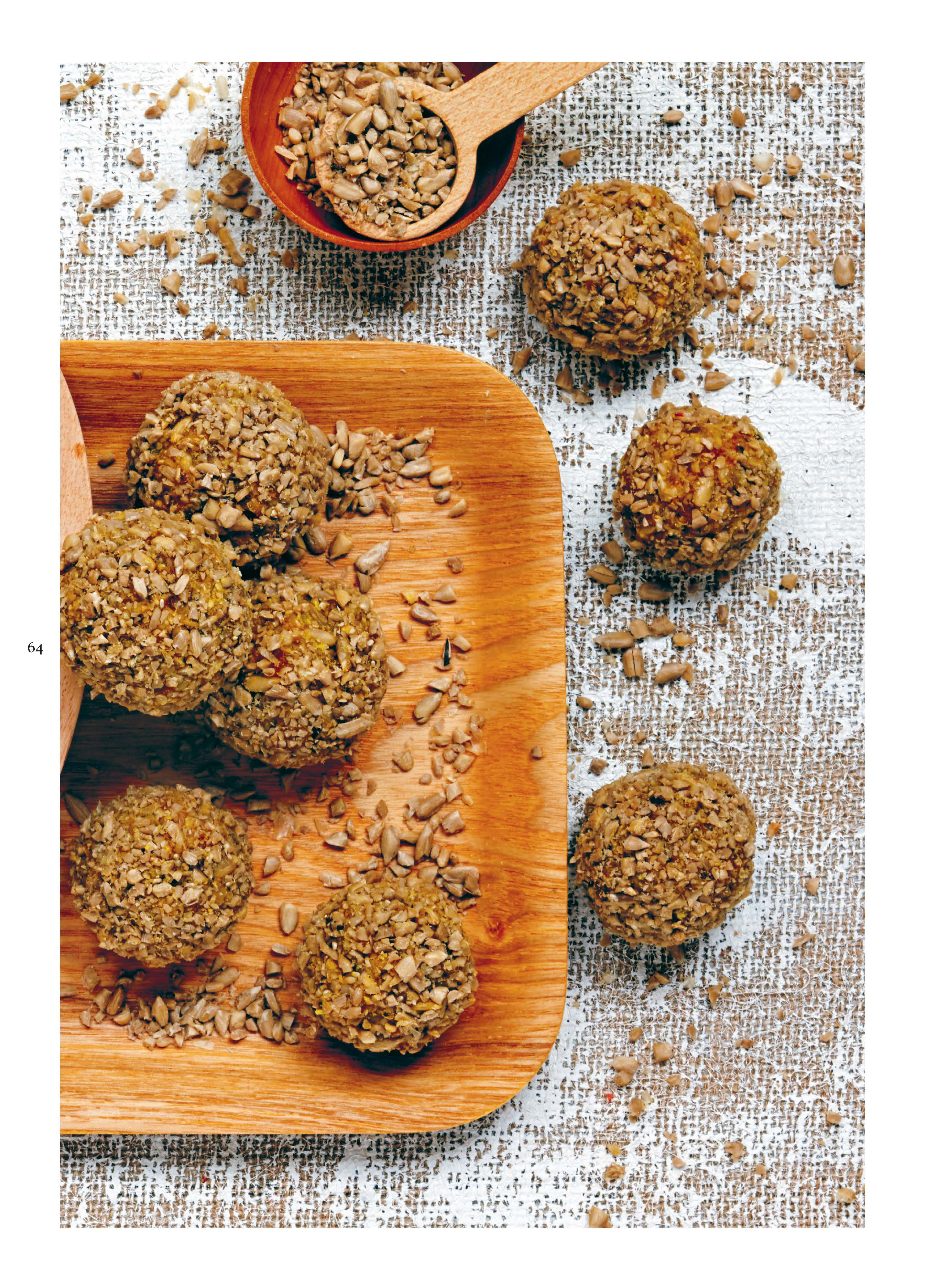 Lemon and turmeric balls