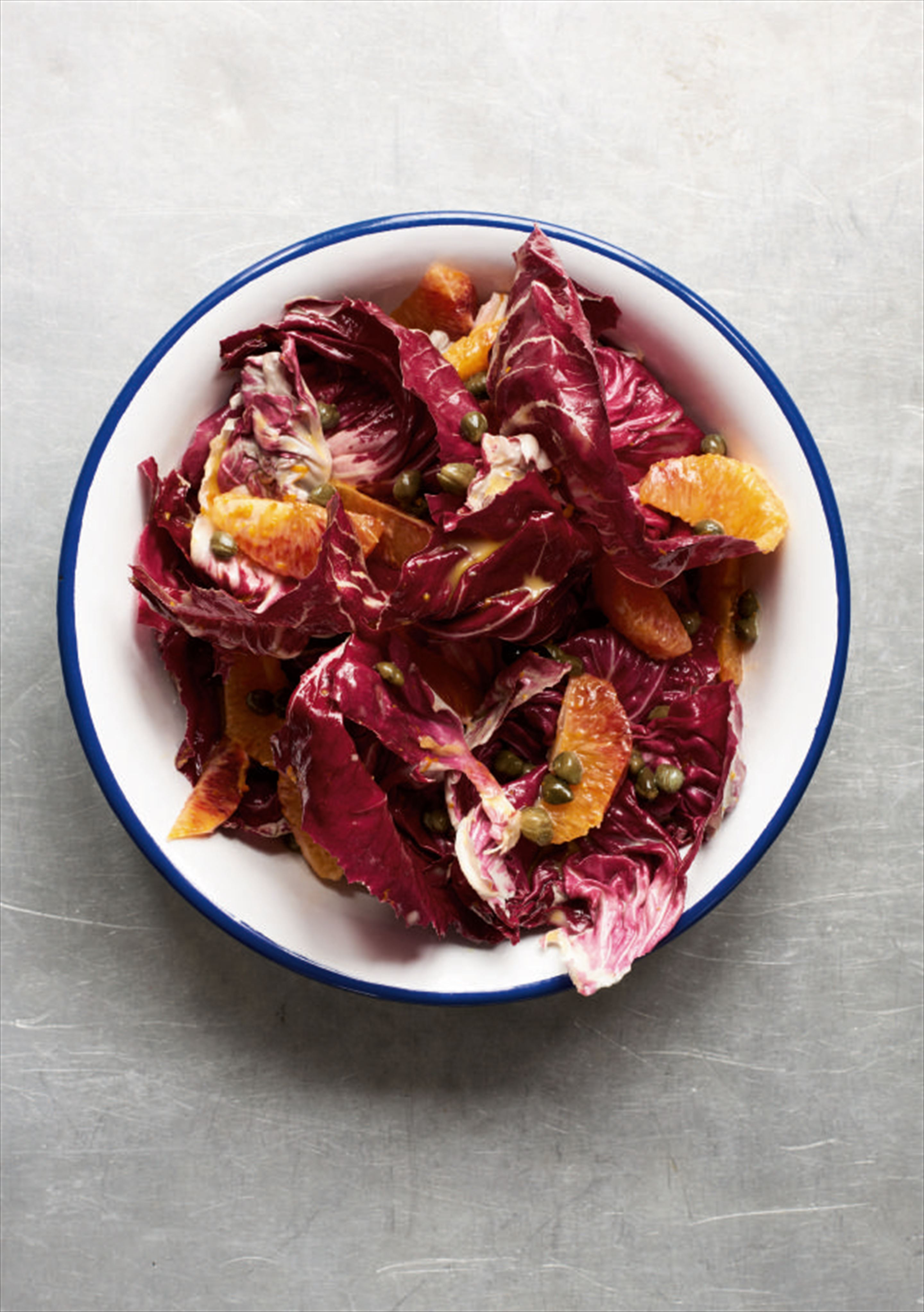 Radicchio with a smoky blood orange and maple dressing