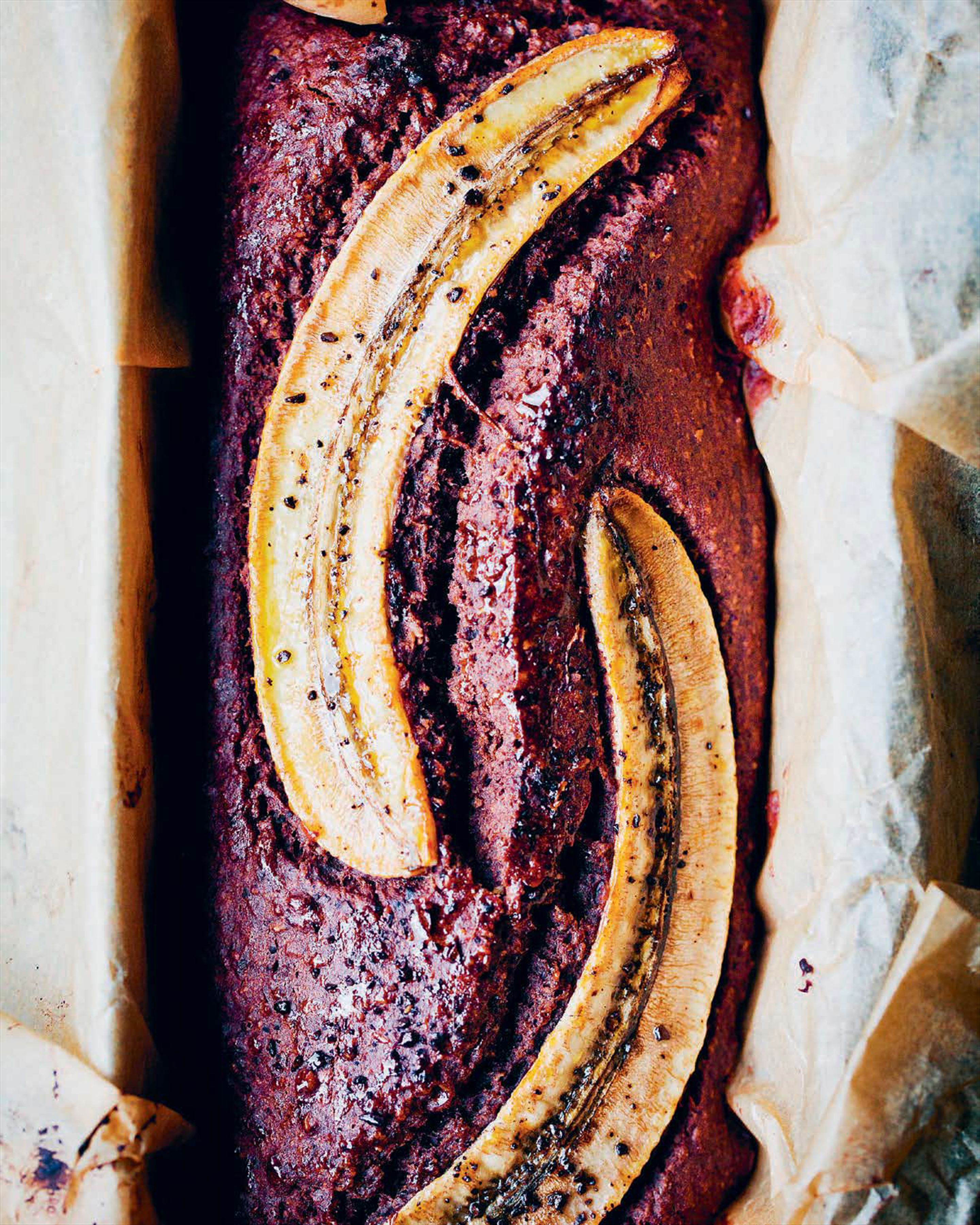 Buckwheat, banana and chocolate bread