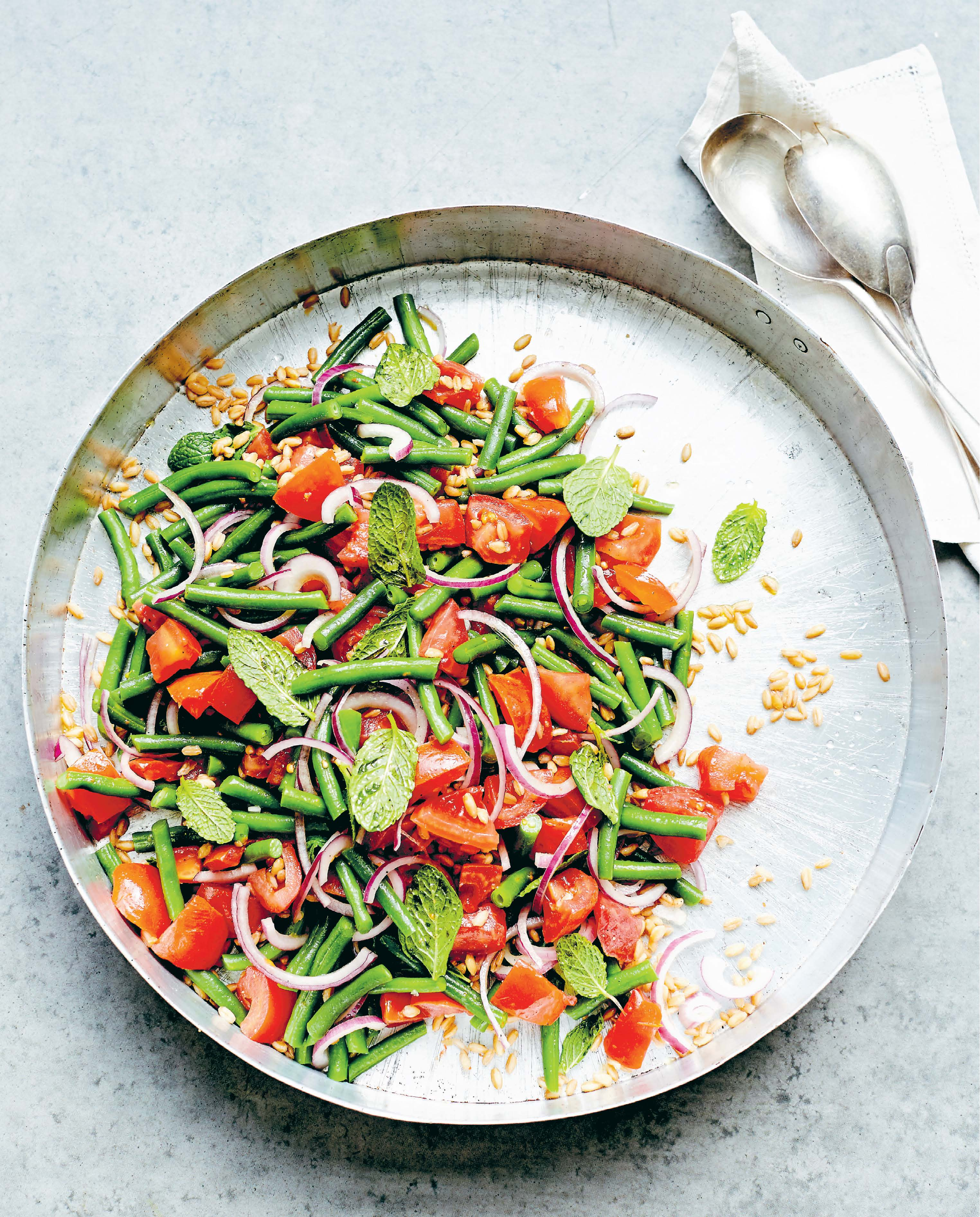 Tomato and green bean salad
