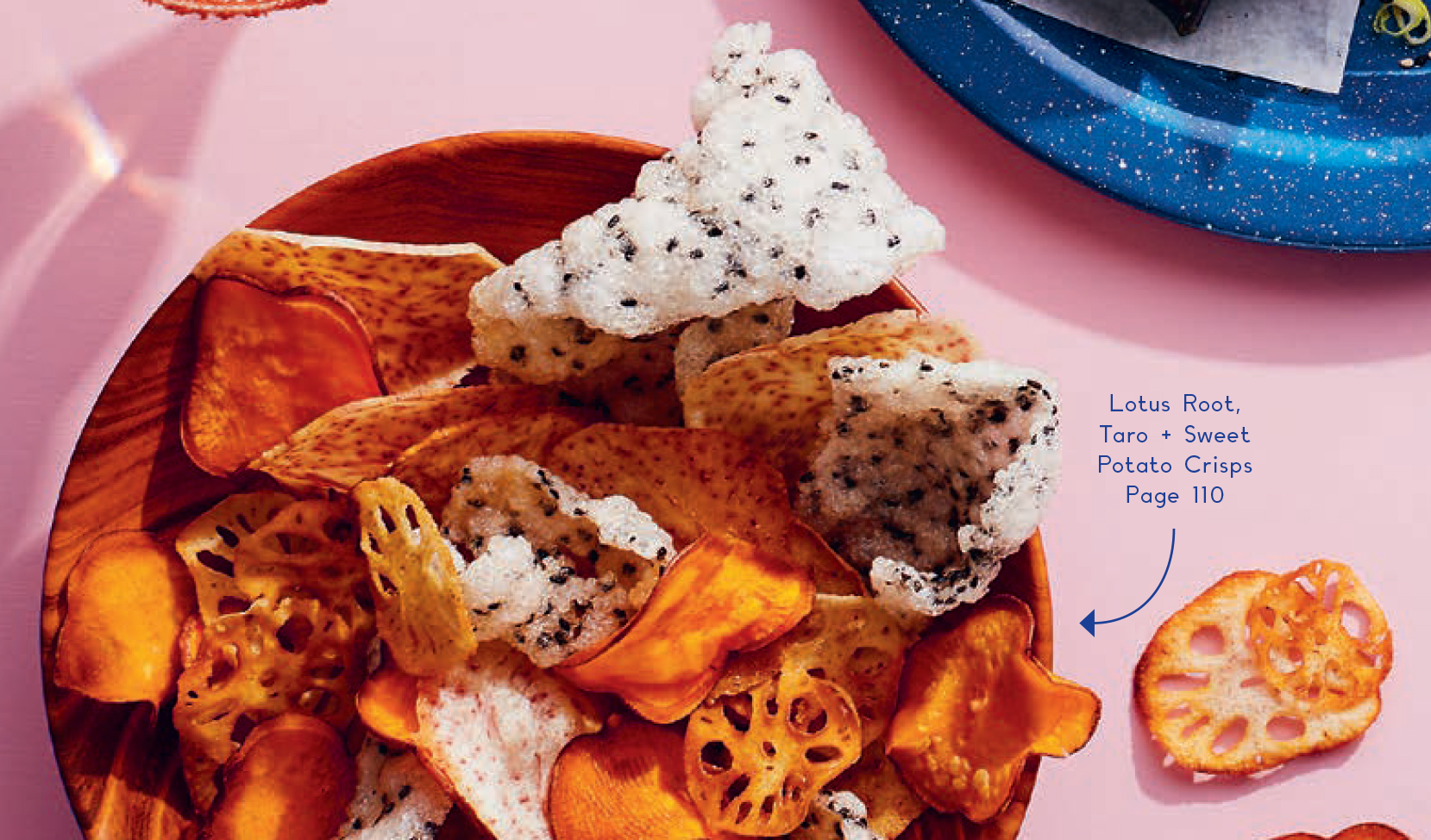 Lotus root, taro + sweet potato crisps