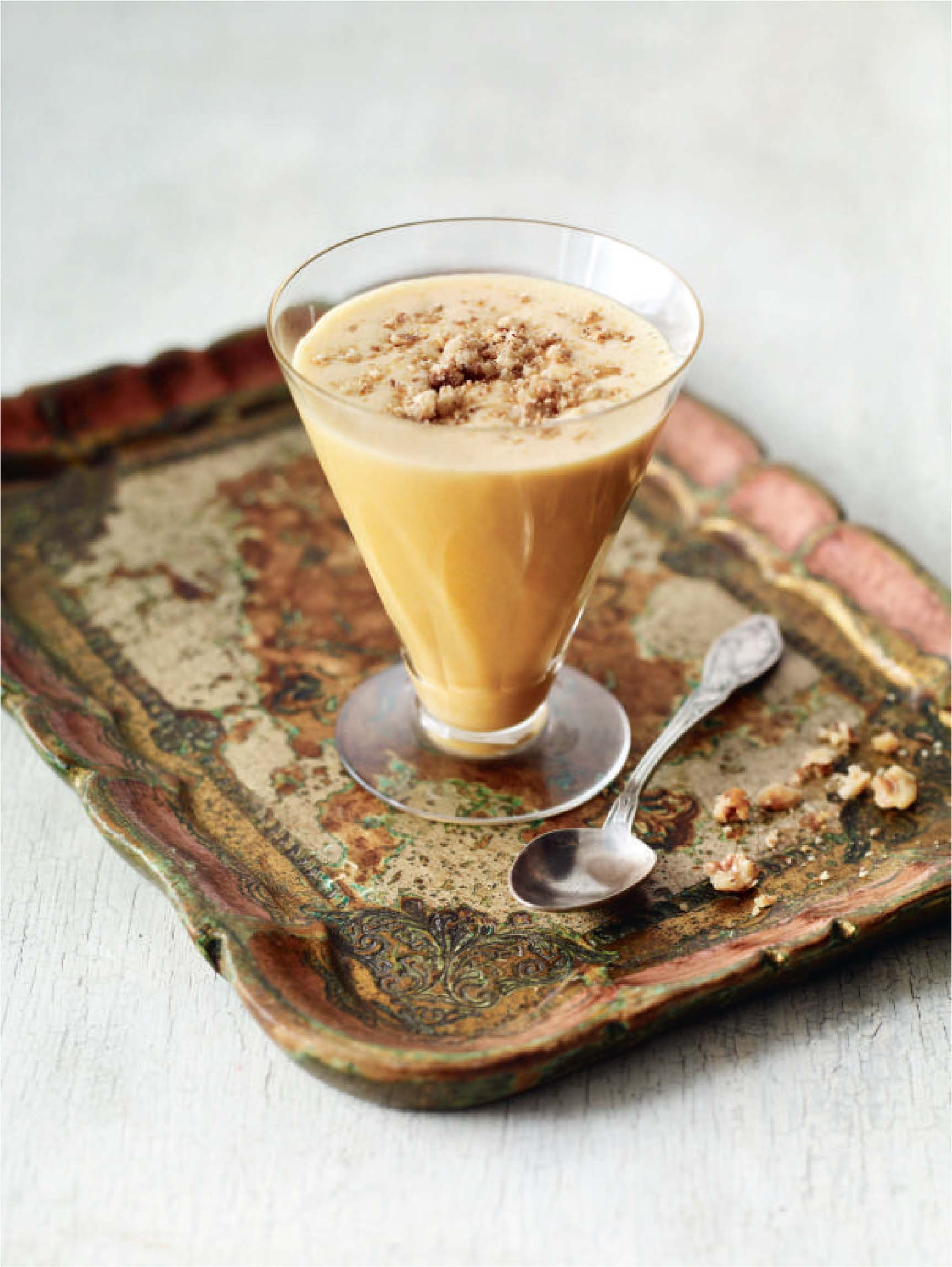 Caramel walnut mousse
