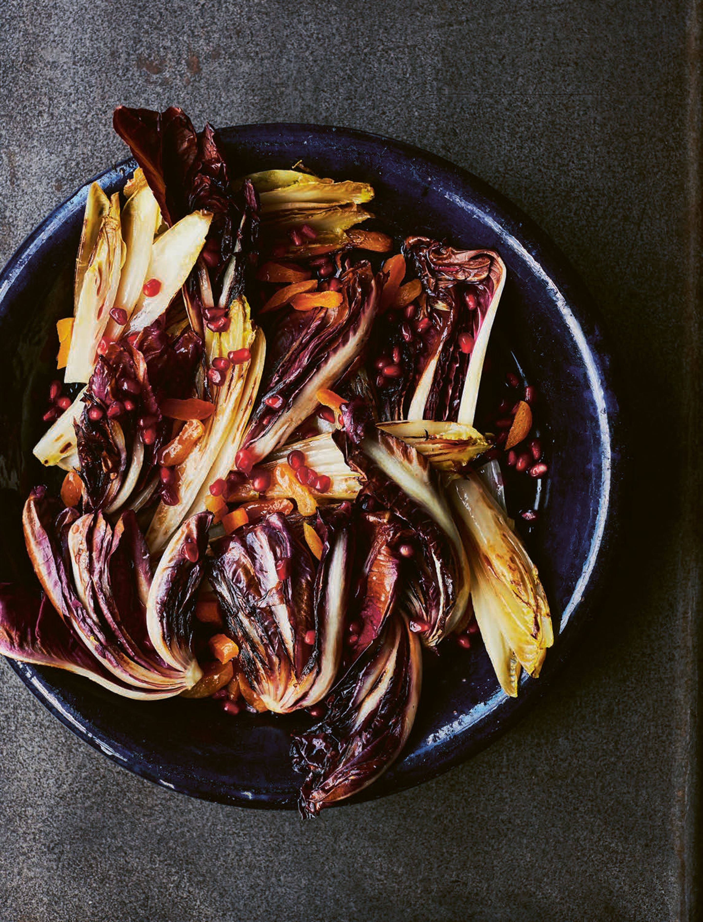 Chicory & pomegranate salad