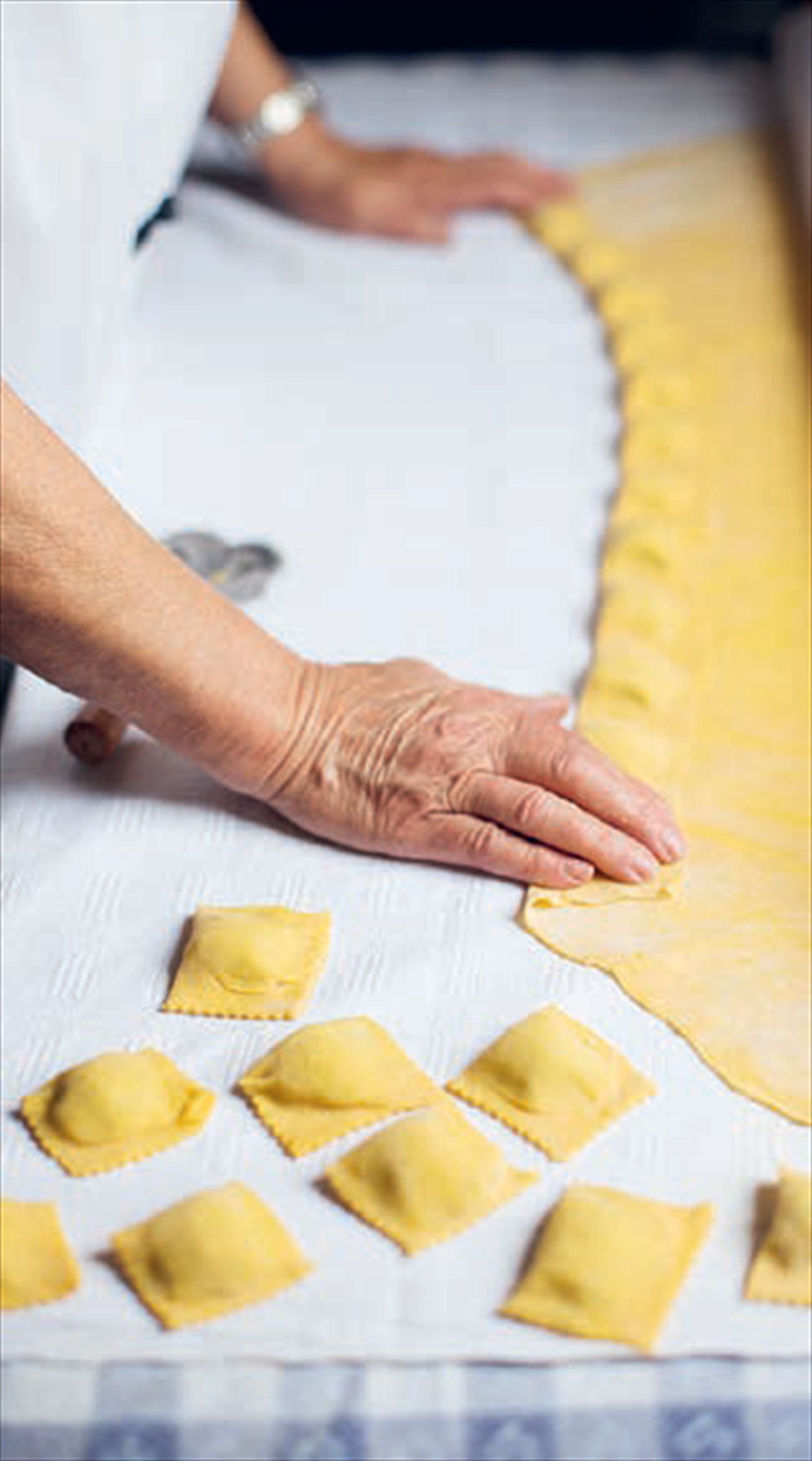 Ravioli stuffed with potato & cheese