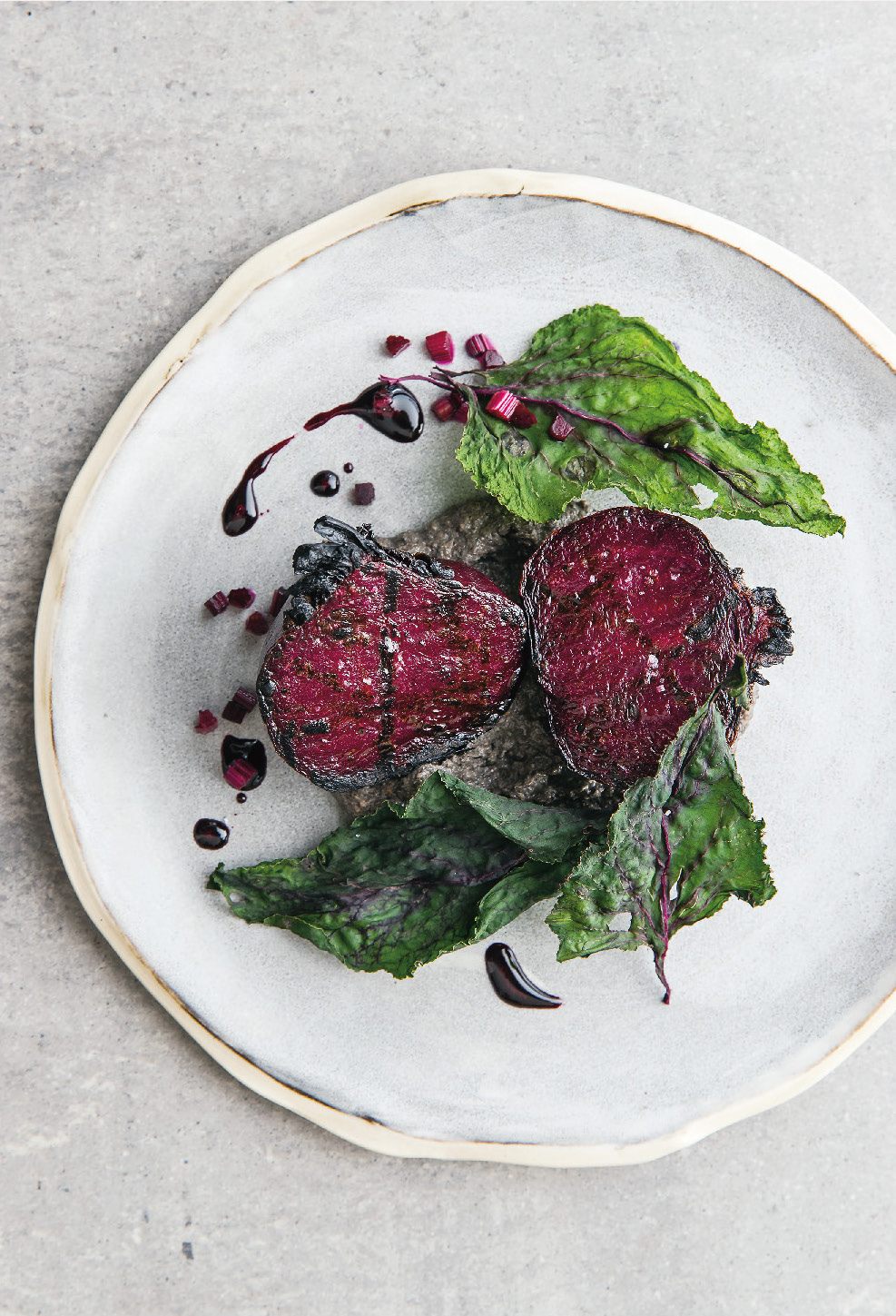 Beetroot, black sesame