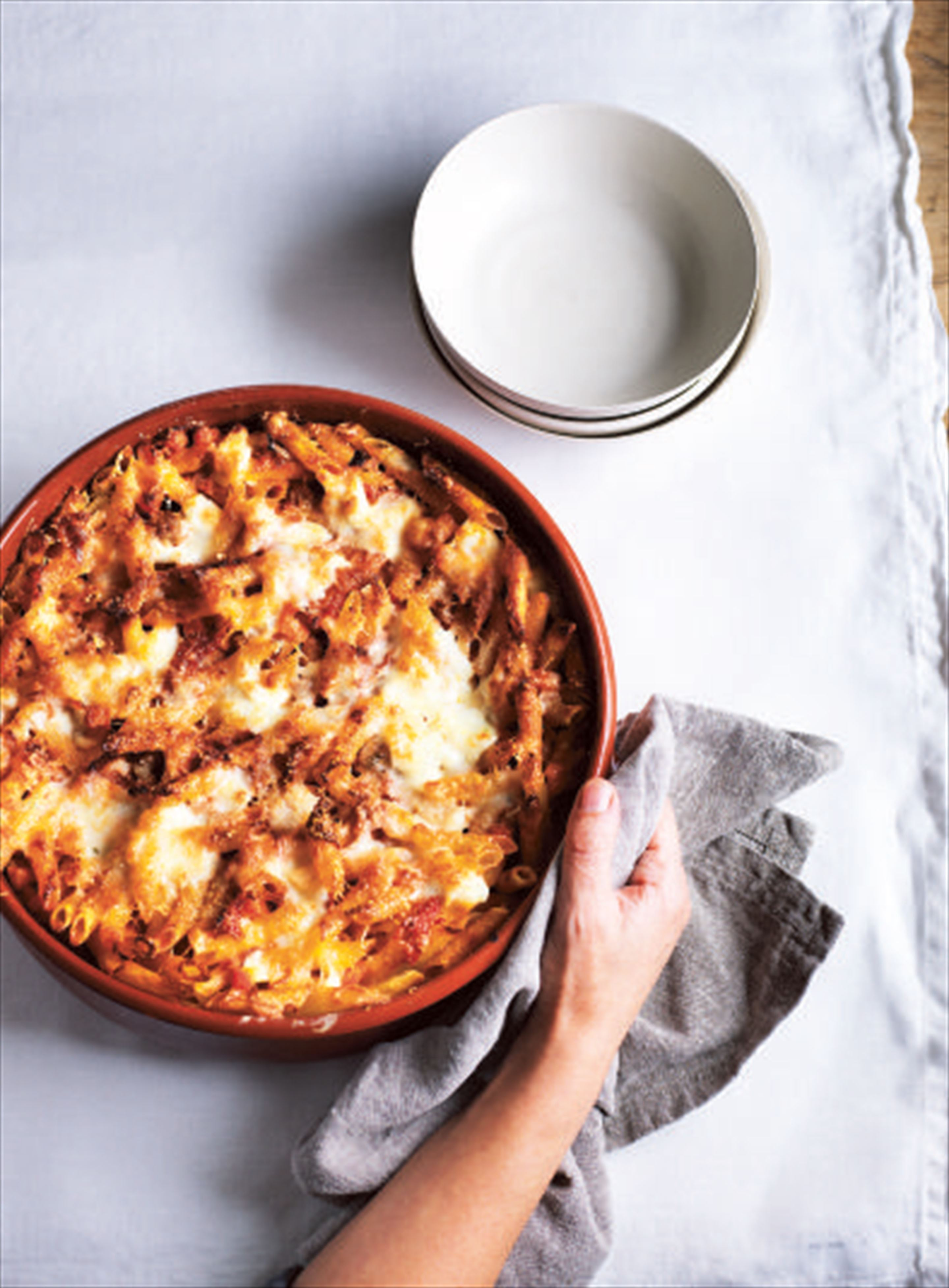 Oven-baked pasta