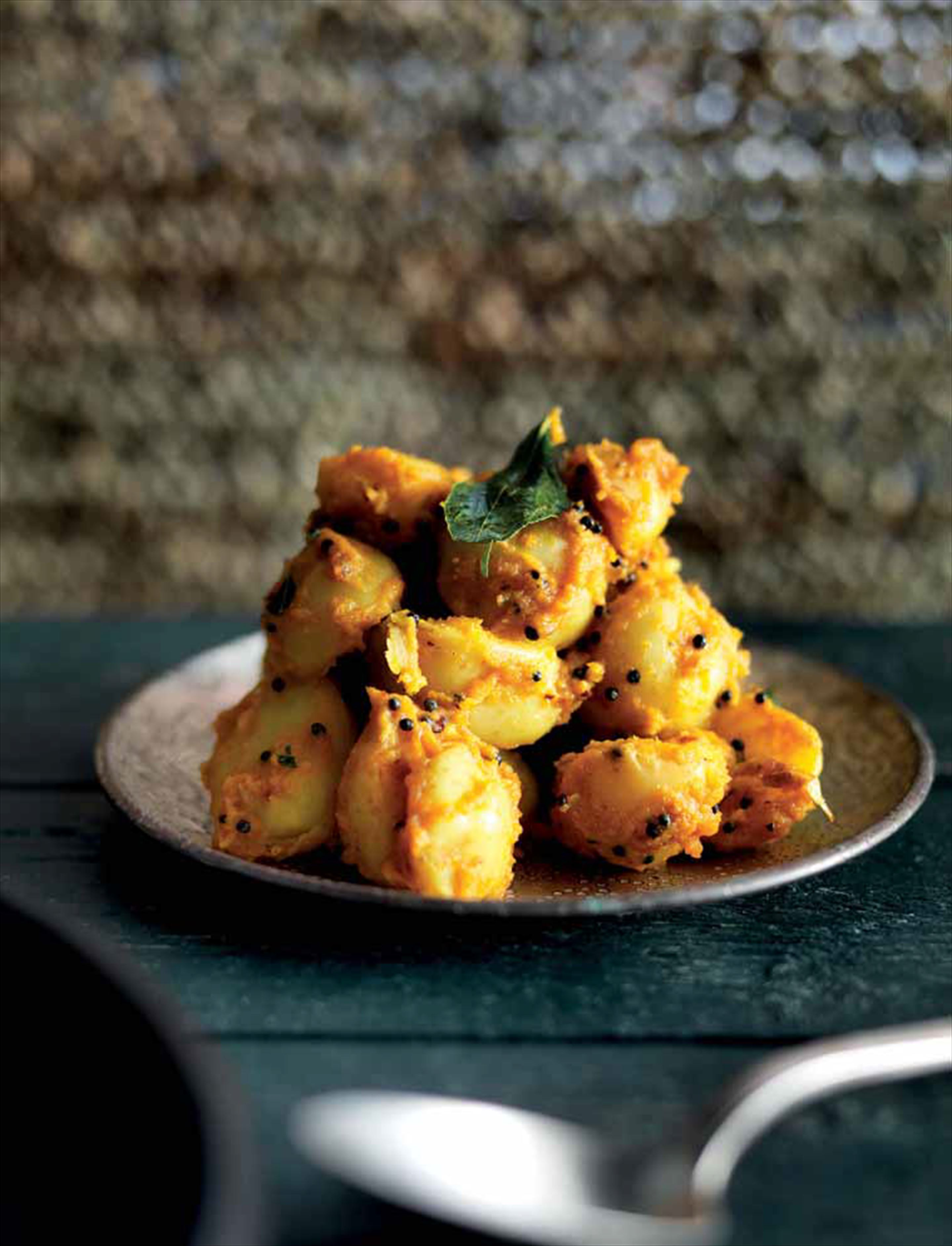 Spiced potatoes and coconut