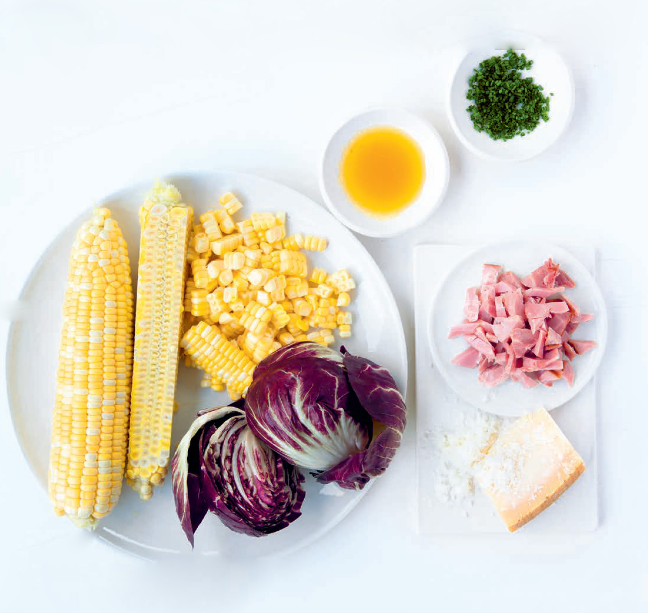 Sweetcorn & radicchio